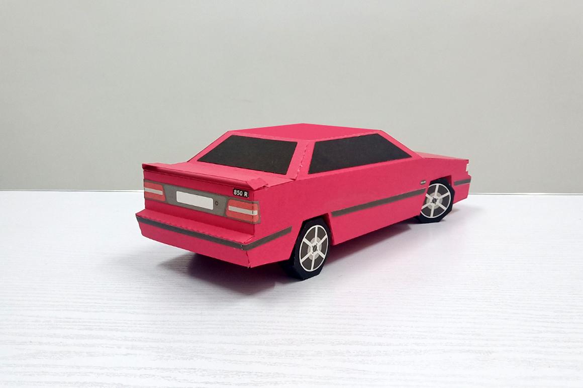 DIY Volvo Car - 3d papercraft example image 6