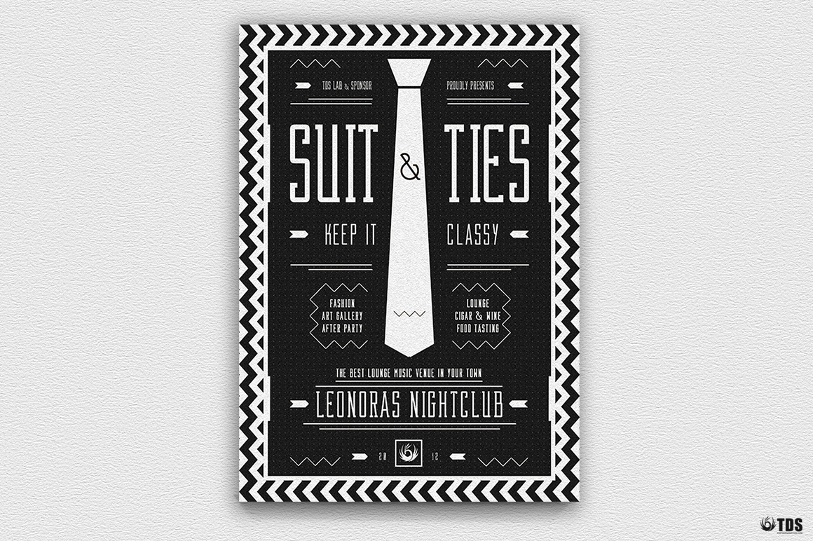 Suit and Tie Flyer Template V3 example image 6