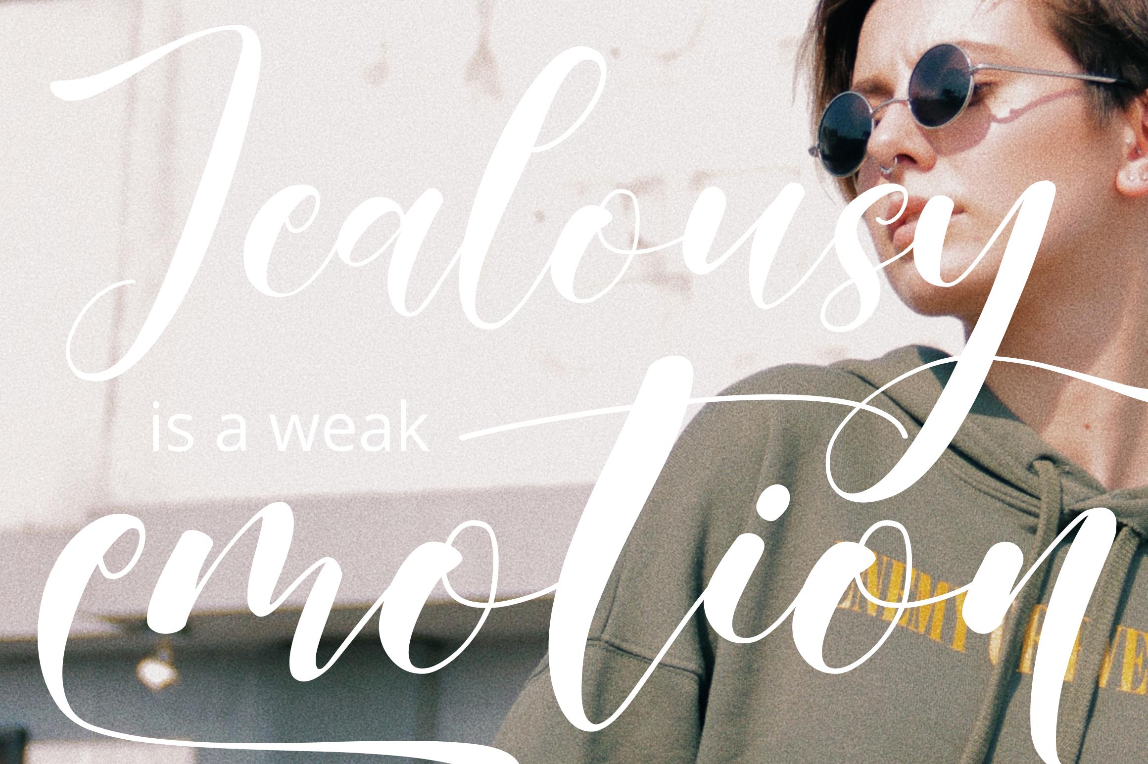 Jealousy | Handwritten Typeface example image 6