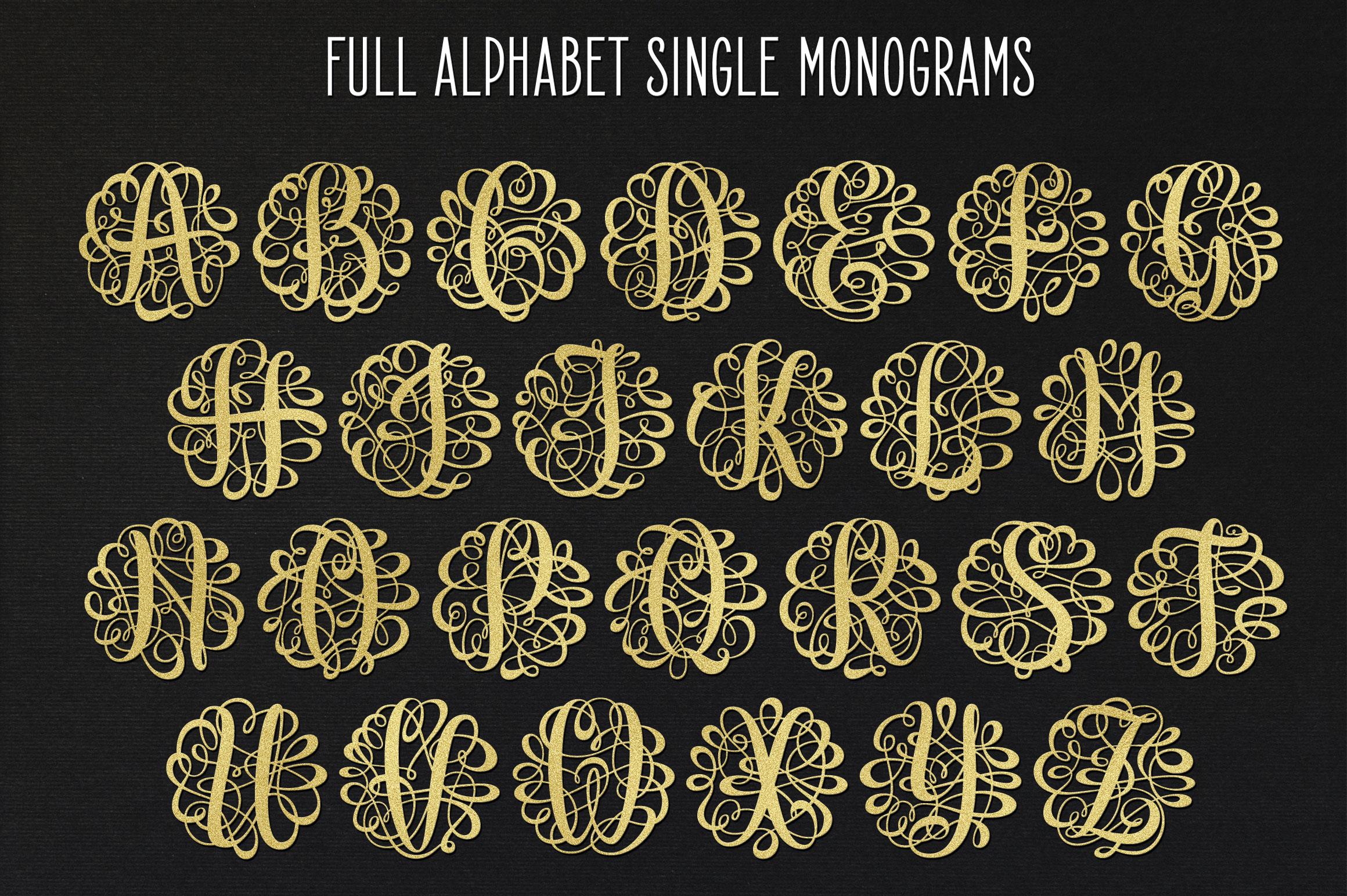 Monogram Script | Full Alphabet Single & Couple Monograms example image 9