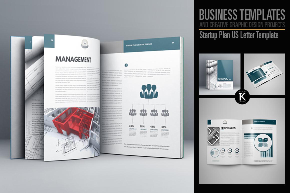 Startup Plan US Letter Template - US Letter example image 1