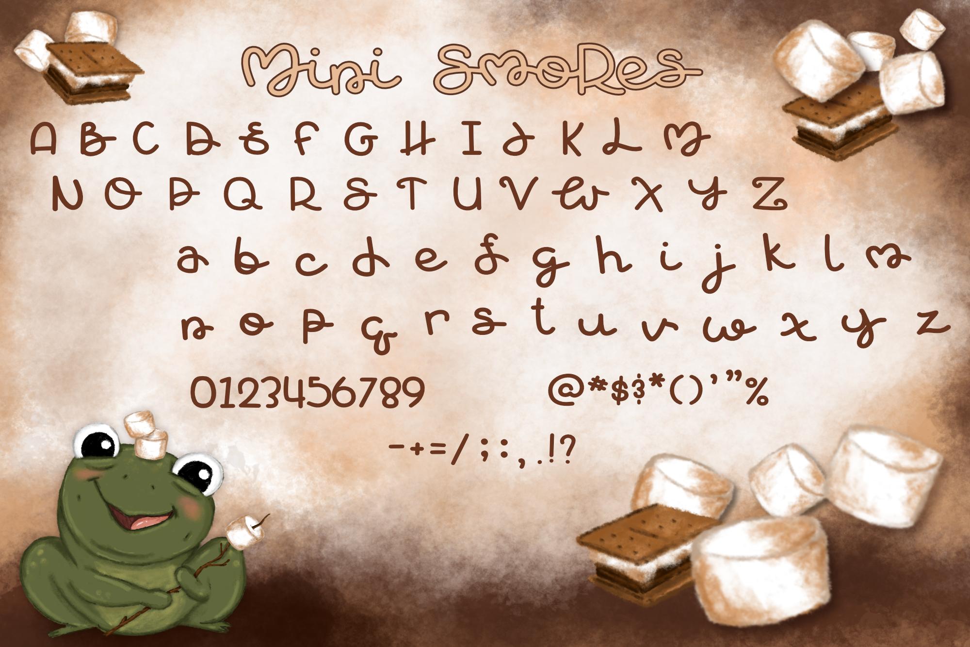 Mini Smores   A ribbeting monoline script font example image 2