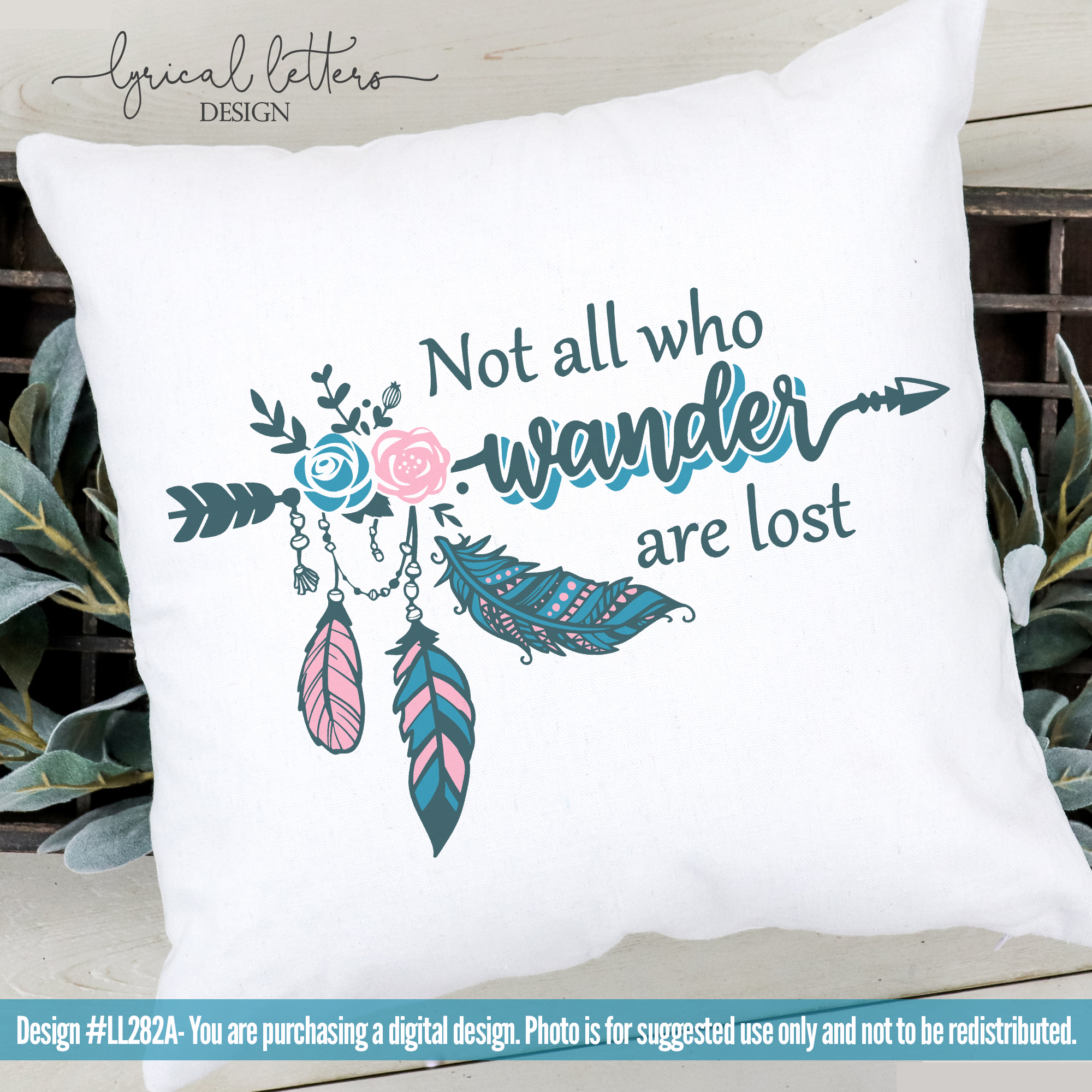 Not All Who Wander Are Lost SVG Cut File LL282A example image 2