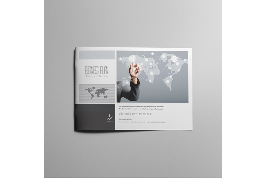 53 Pages Full Business Plan Template - A4 Landscape example image 2