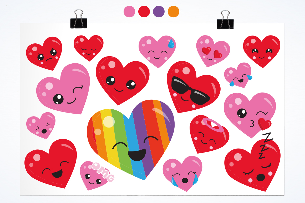 Colorful Heart graphic and illustrations example image 3
