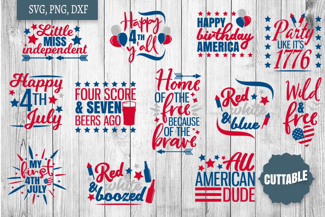 Fourth of July SVG Bundle, Independence day cut file bundle example image 1