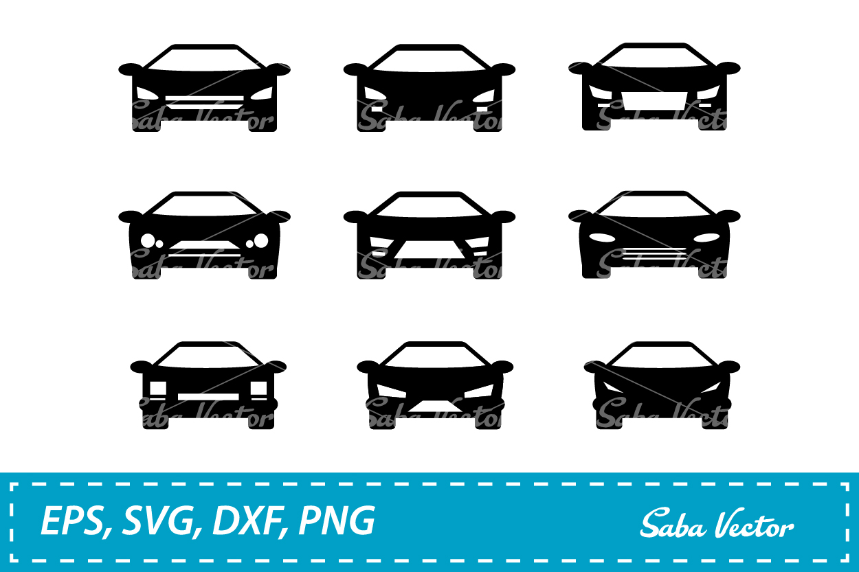 Silhouette Car SVG example image 1