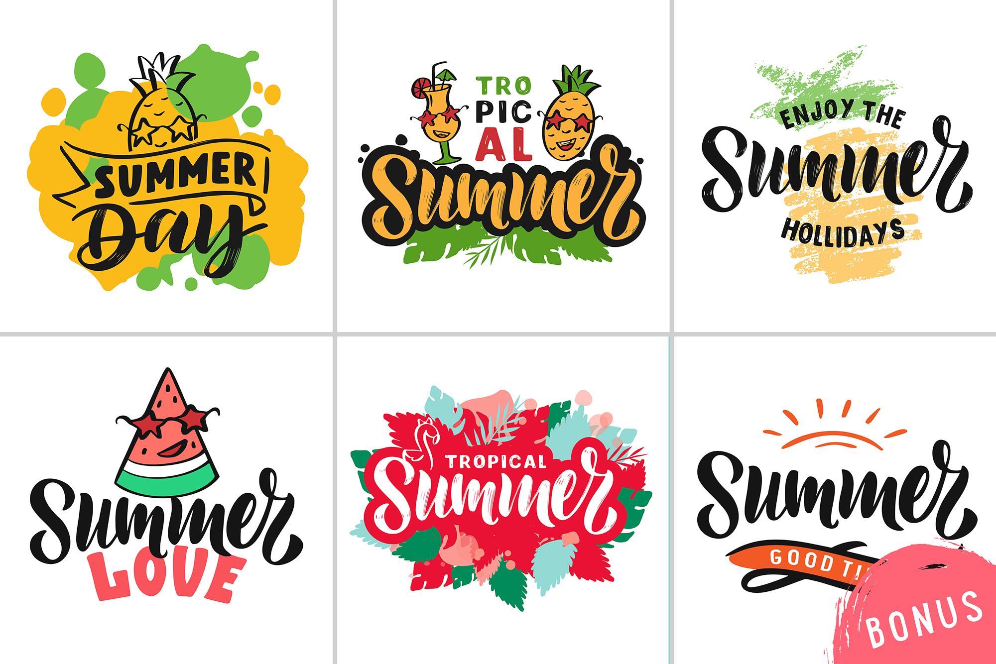 Summer logo set Bonus example image 6