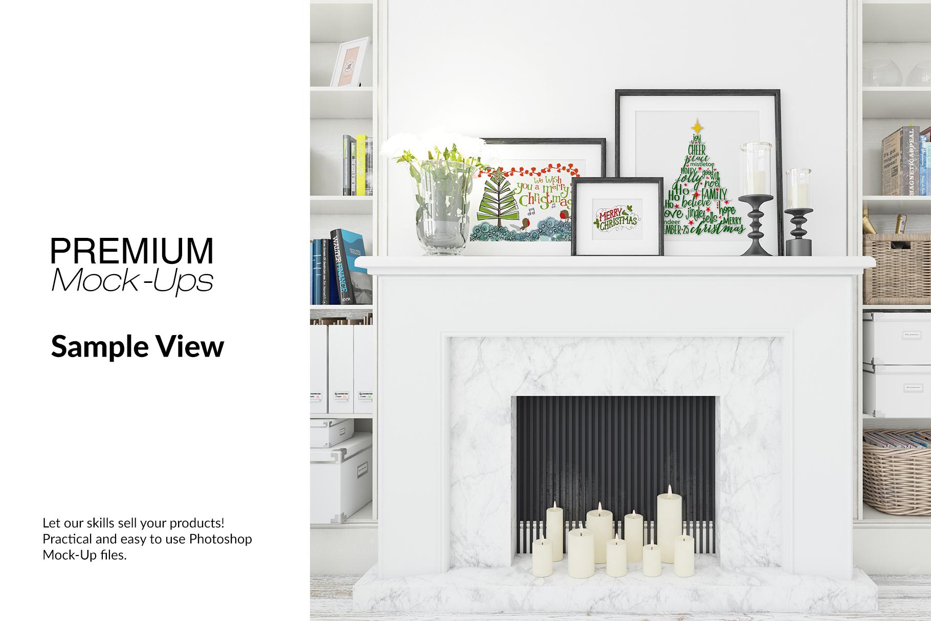 Christmas Living Room - Pillow & Frames Set example image 14