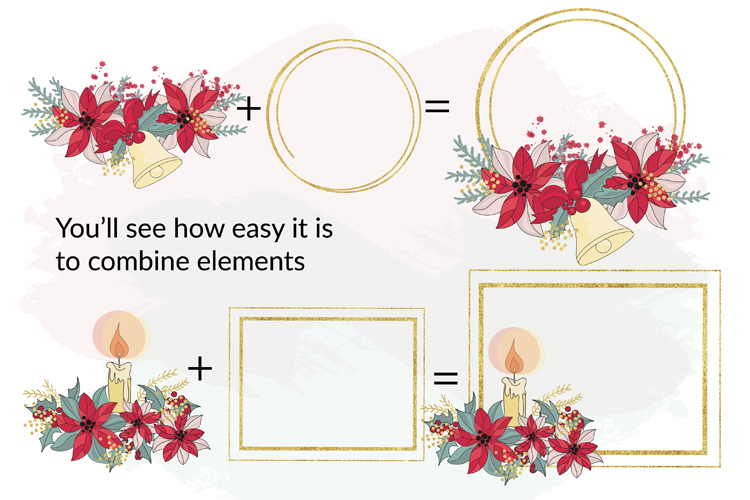 BEST WISHES Christmas Vector Illustration Pattern Animation example image 7