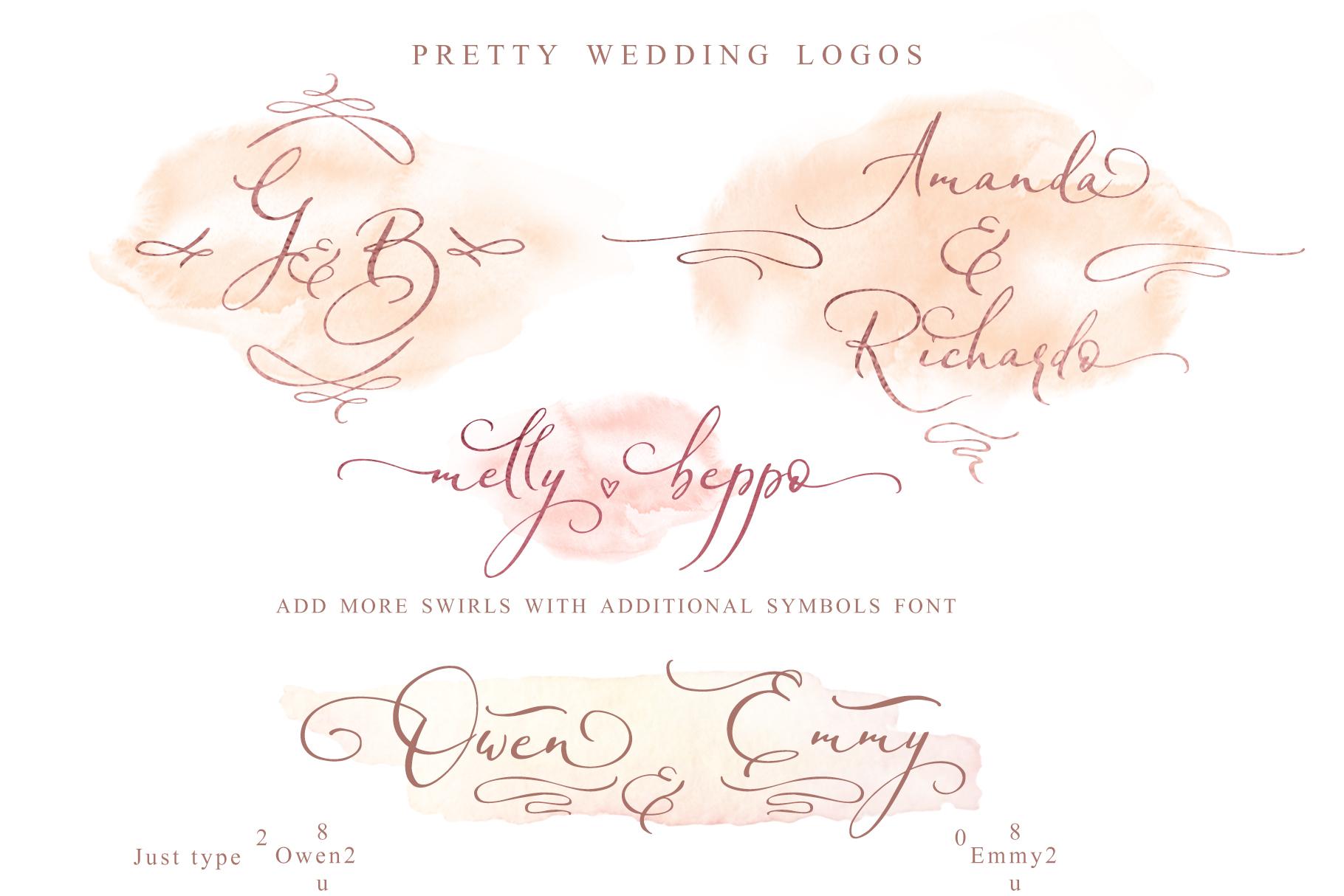 Miss Katherine font + Extras & Logo example image 14
