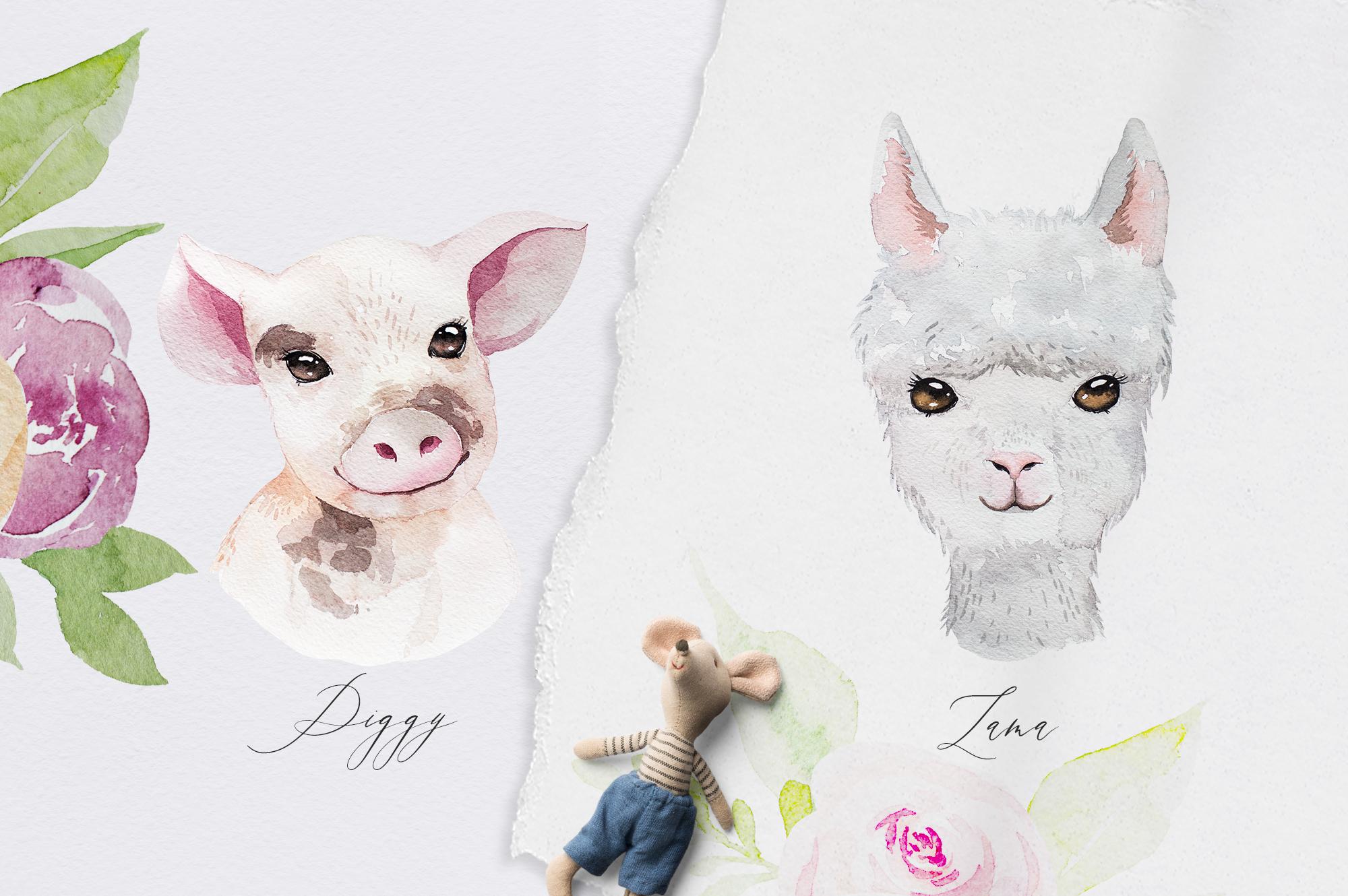 Cutest Farm Animals Set example image 5