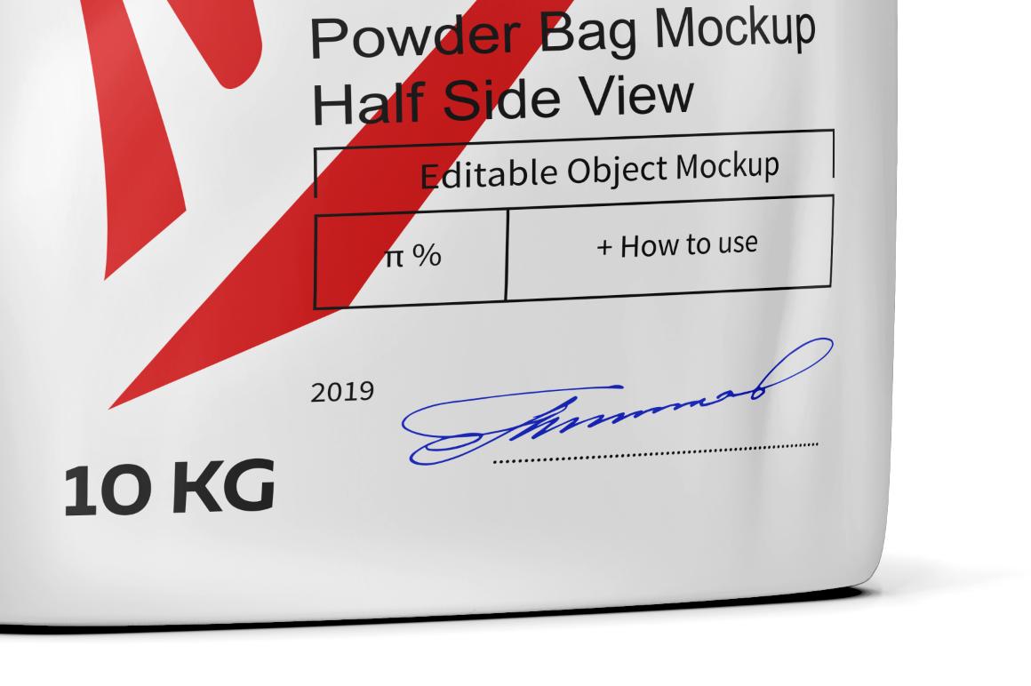 Powder Bag Mockup Half Side View example image 4