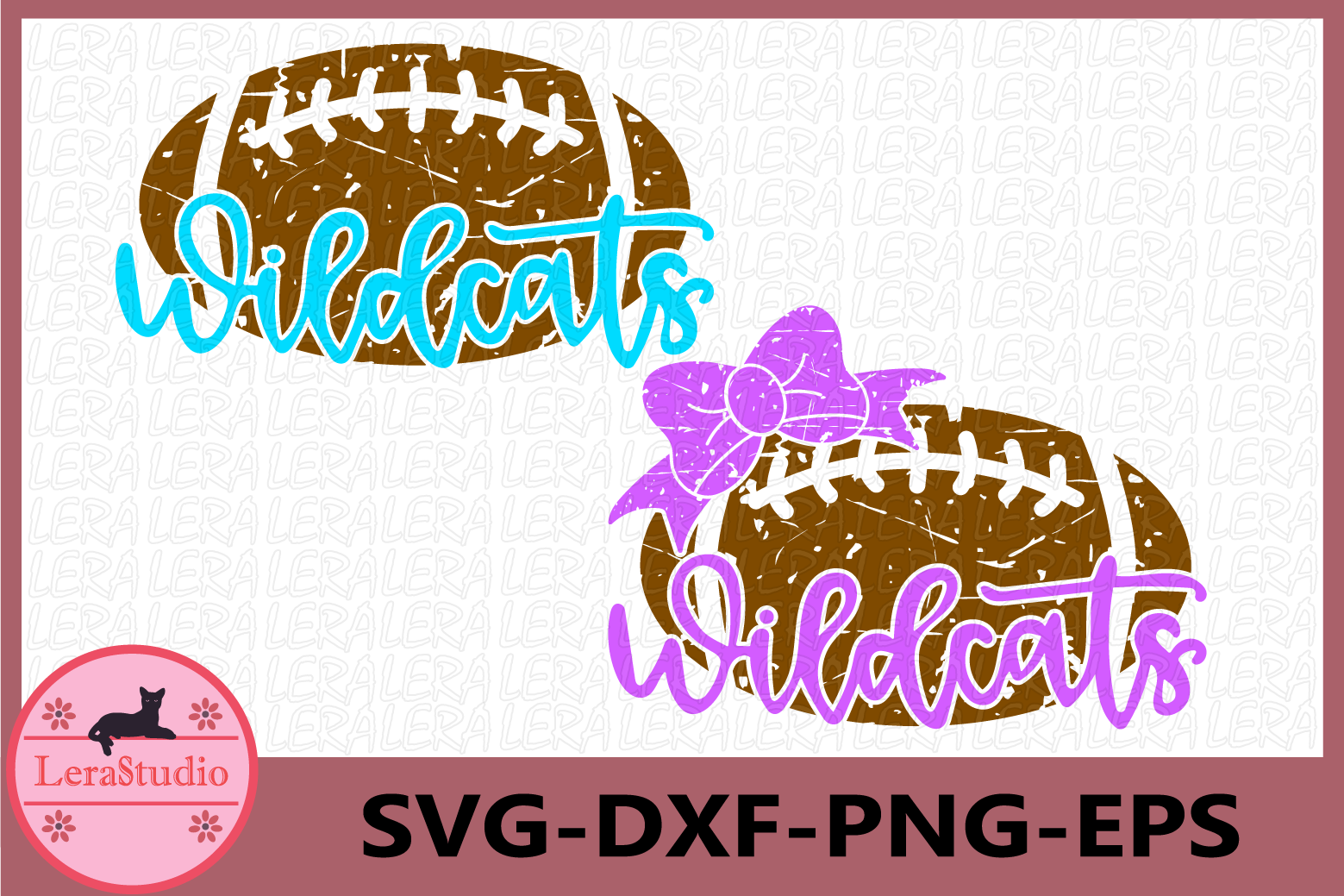 Wildcats Svg, Football Grunge SVG, Sport Ball Monogram svg example image 1