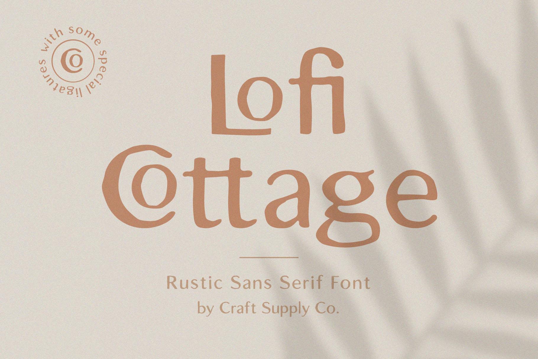 Lofi Cottage - Rustic Sans Serif example image 1