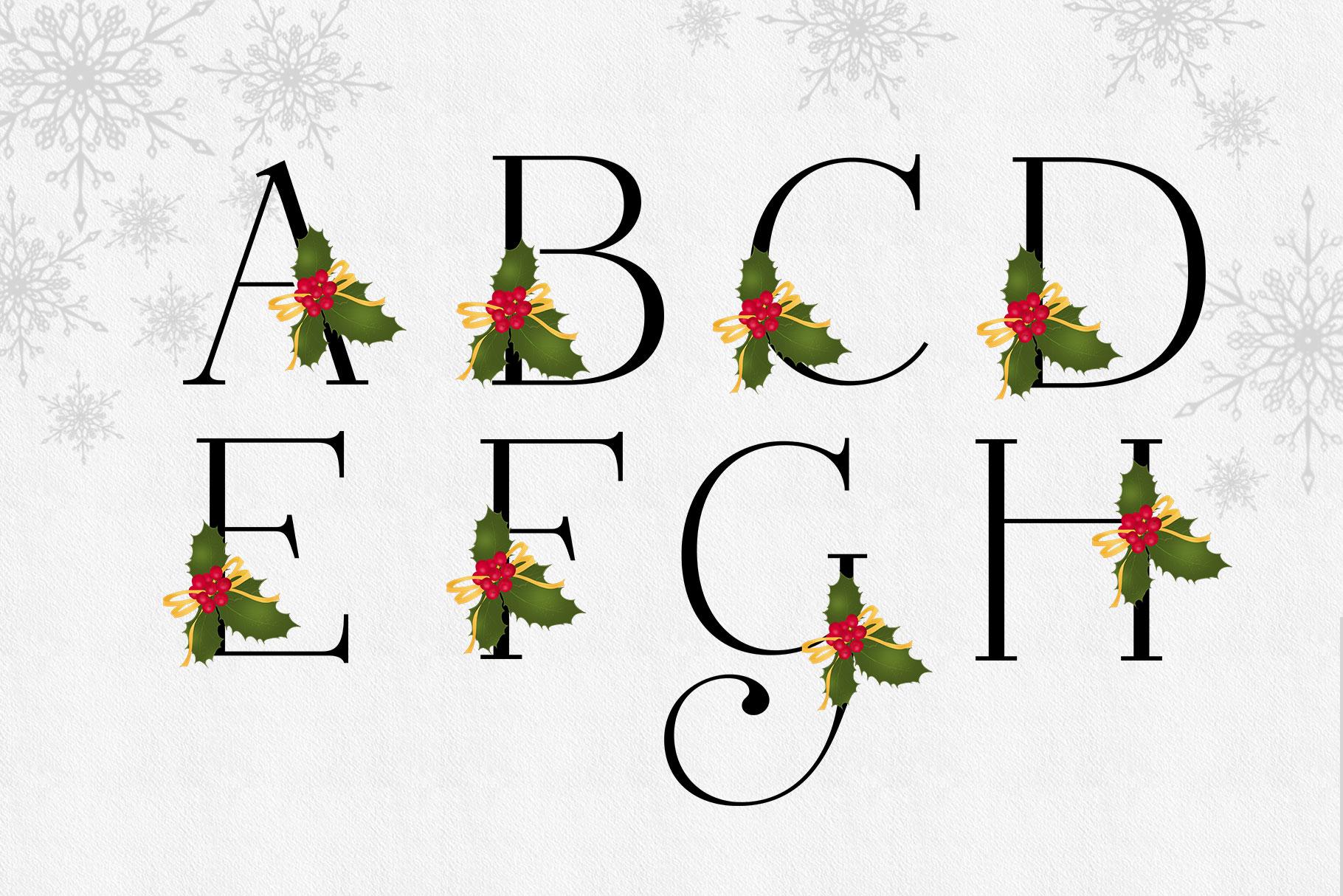 Holiday Alphabet Design Set example image 7