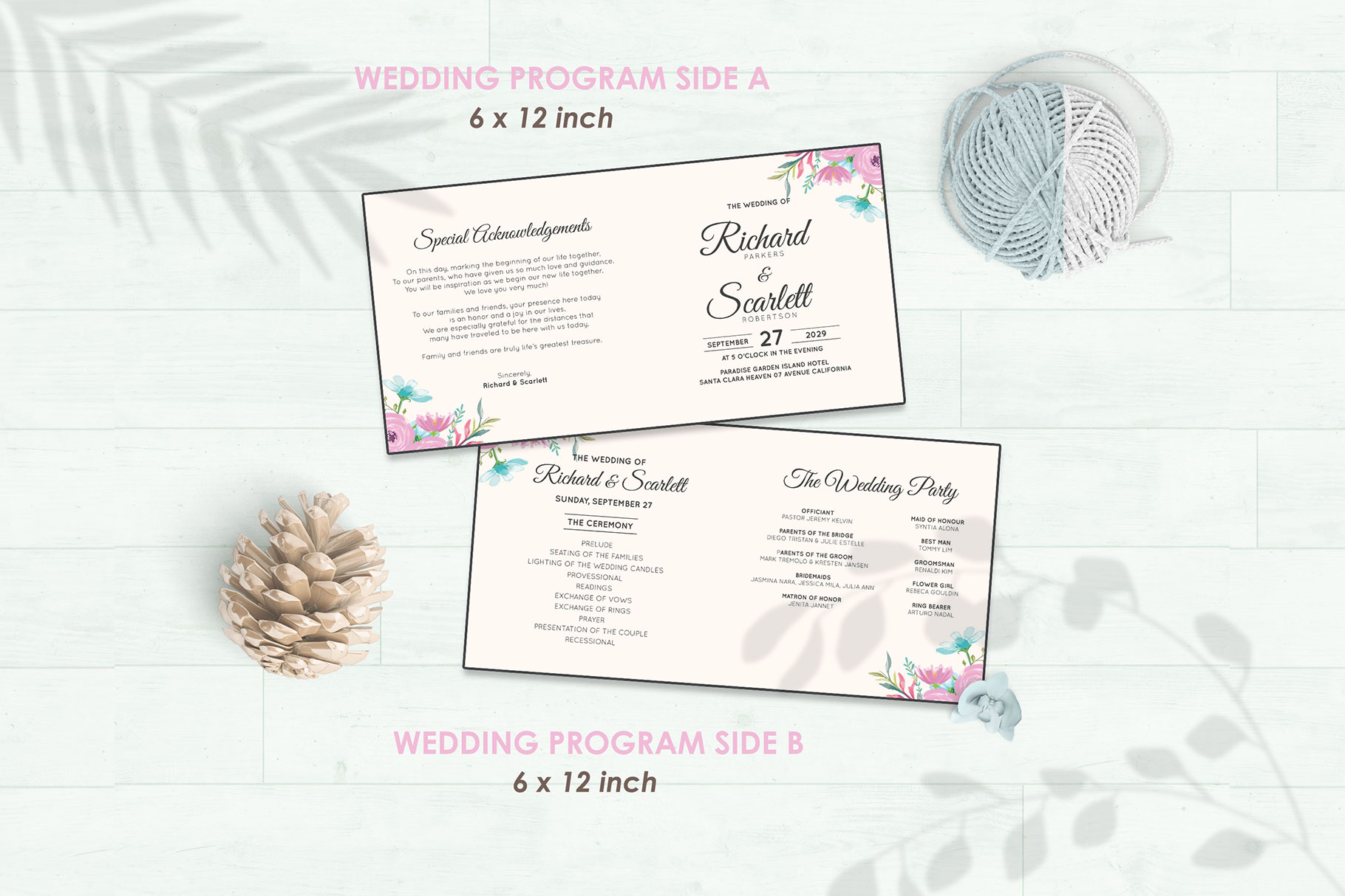 Wedding Invitation Set #12 Watercolor Floral Flower Style example image 5