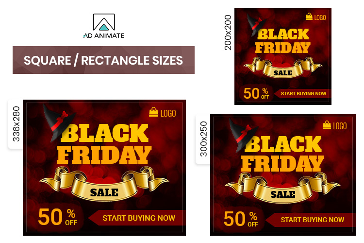 Black Friday Sale Animated Ad Banner Template example image 2