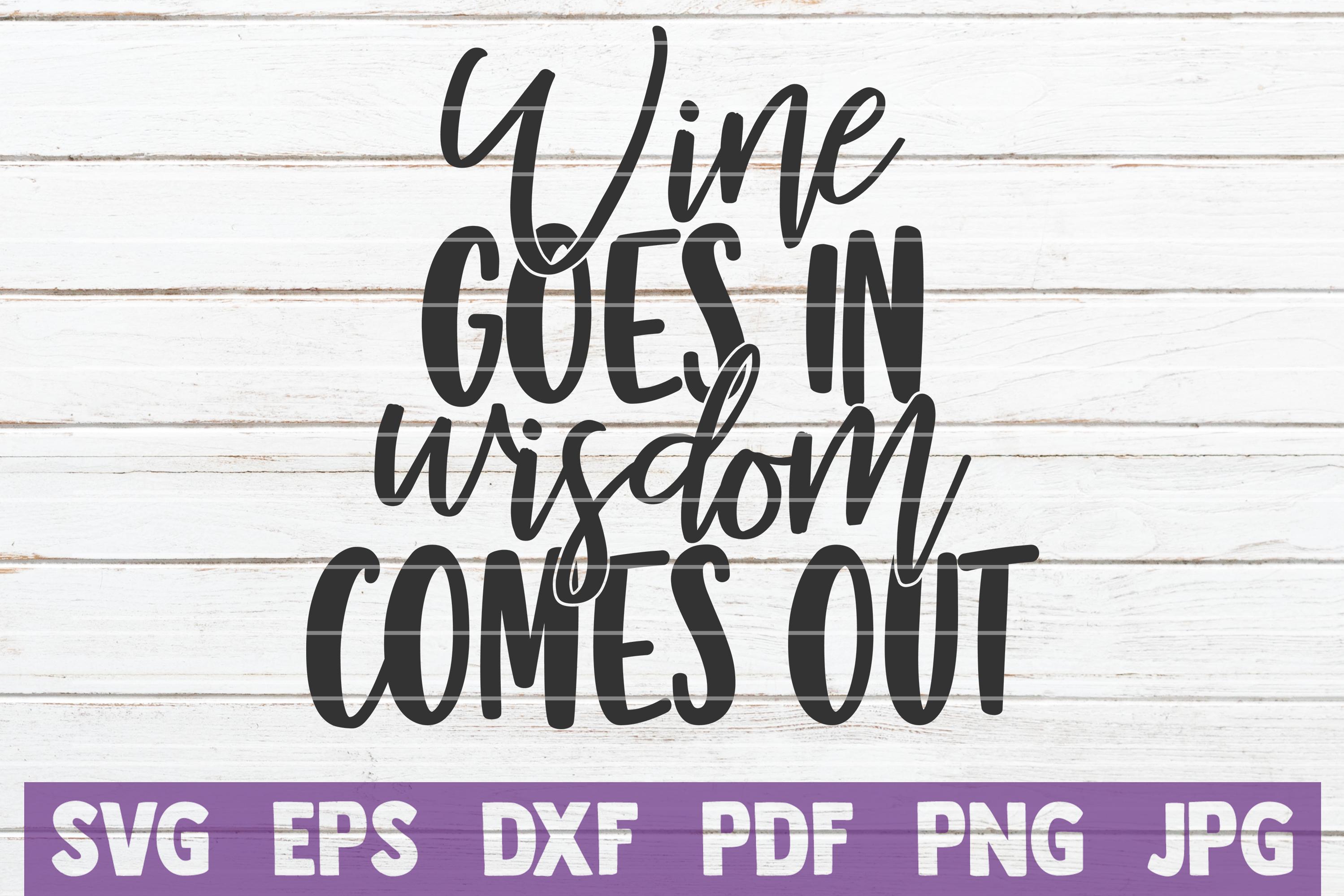 Wine Sayings Vector Bundle   SVG Cut Files example image 22