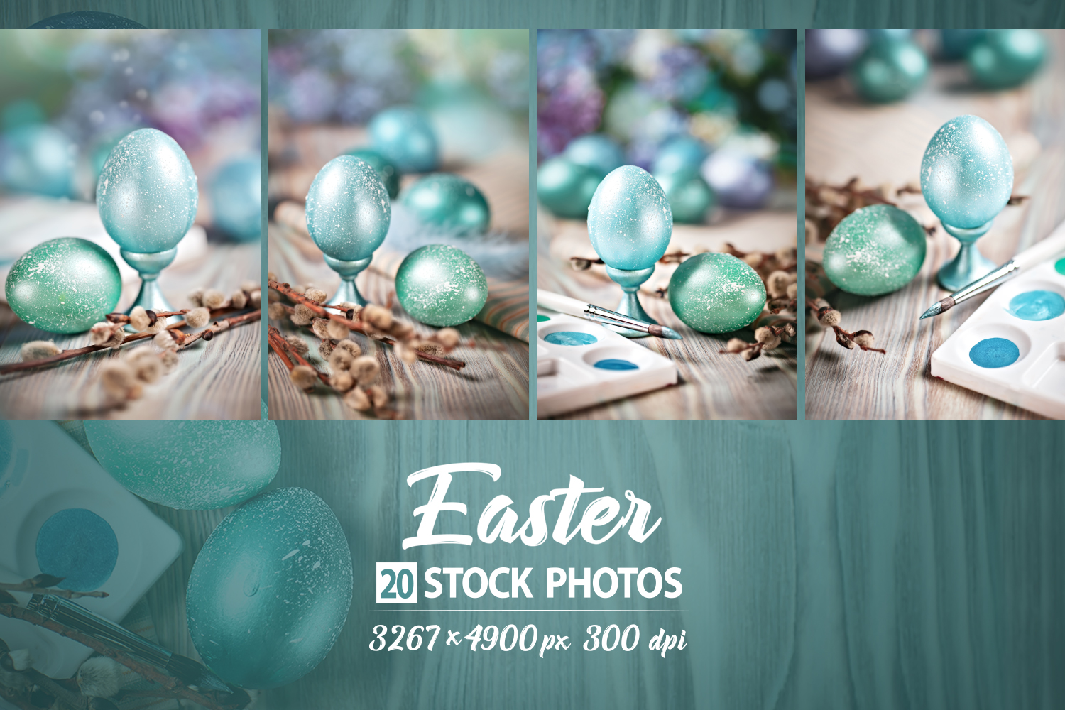 Bundle of greeting Easter backgrounds. example image 6