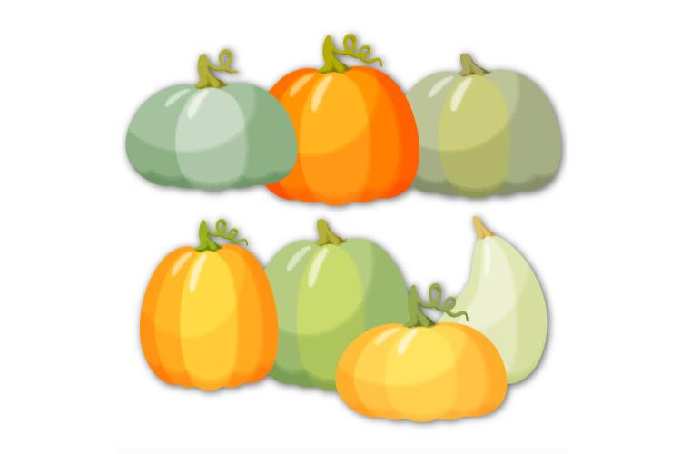 Pumpkin clipart. Autumn digital stickers example image 3