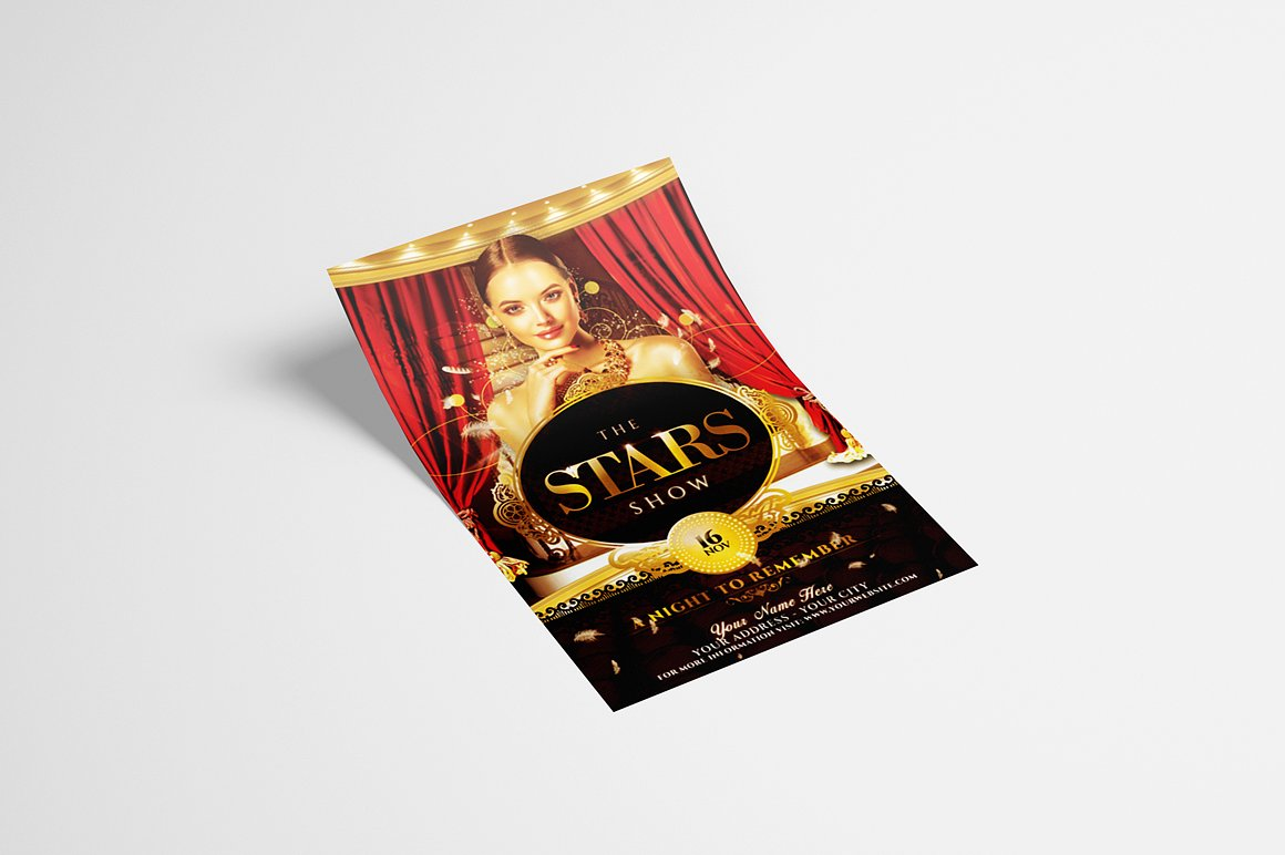 The Stars Show Flyer Template example image 2