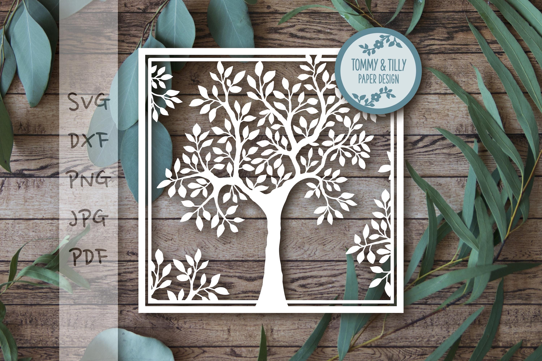 MEGA BUNDLE! Family Tree Cut Files - SVG | Papercut example image 19