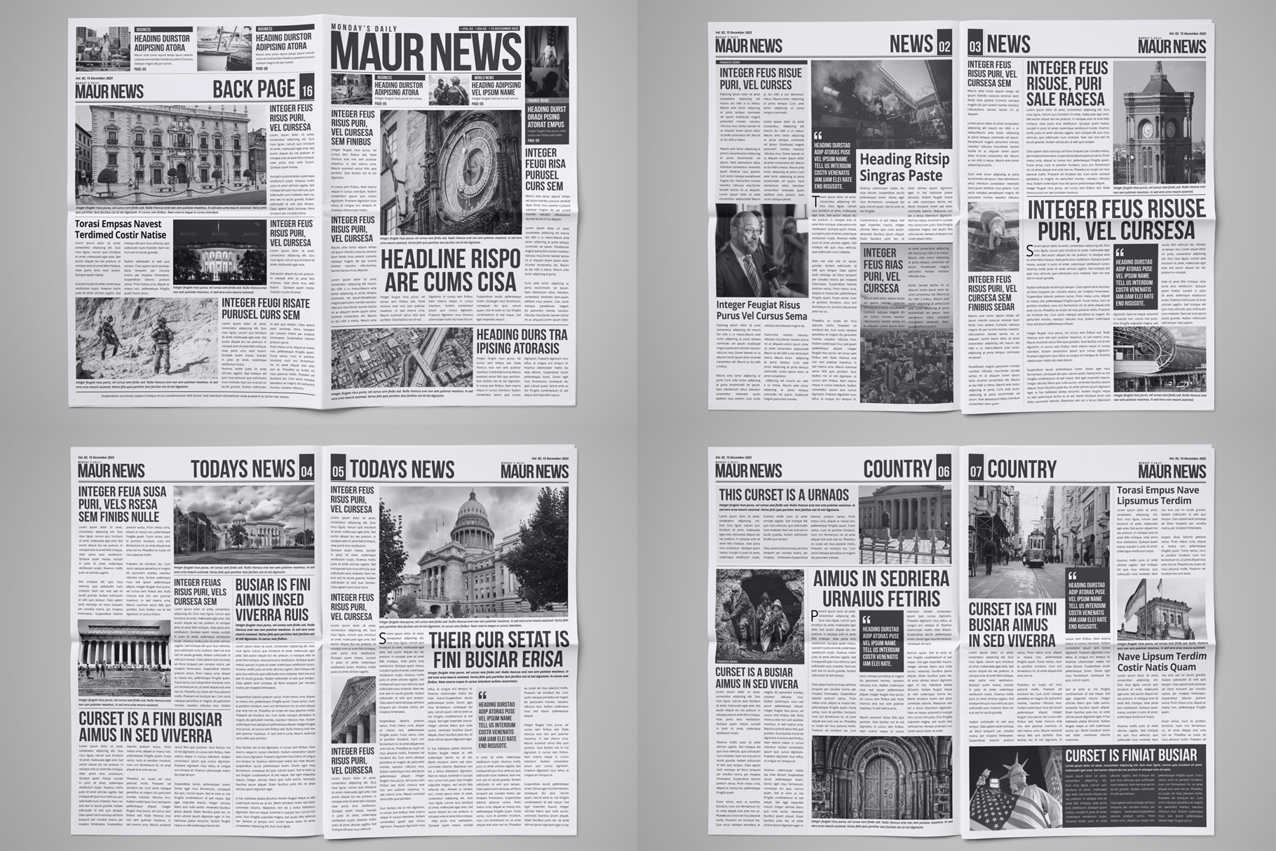 Newspaper Design Bundle - 3 in One example image 3