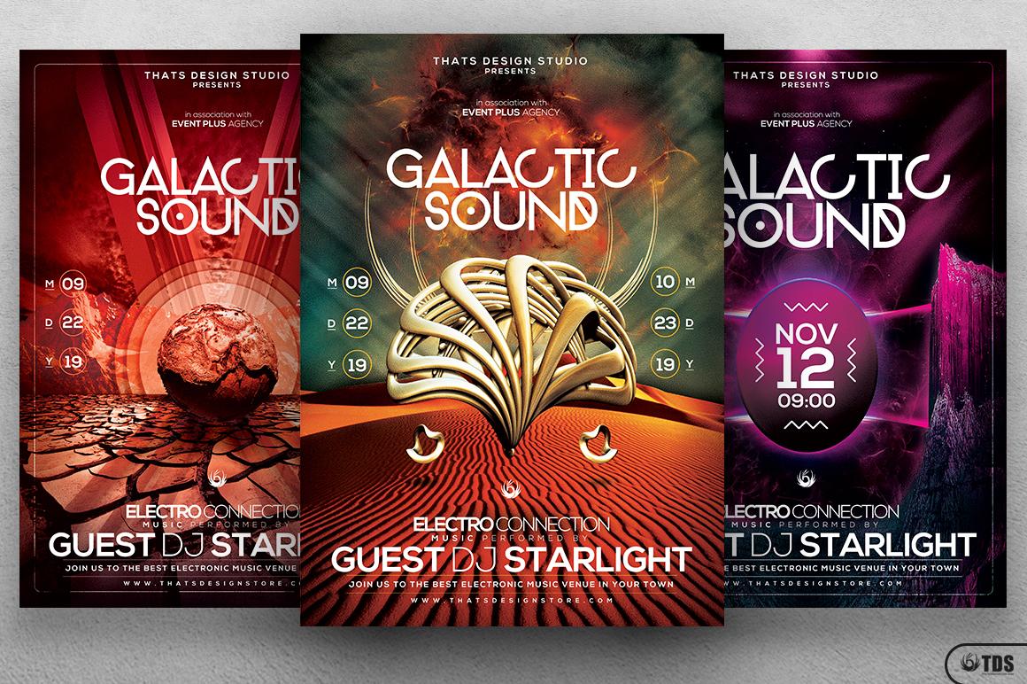 Galactic Sound Flyer Bundle example image 2