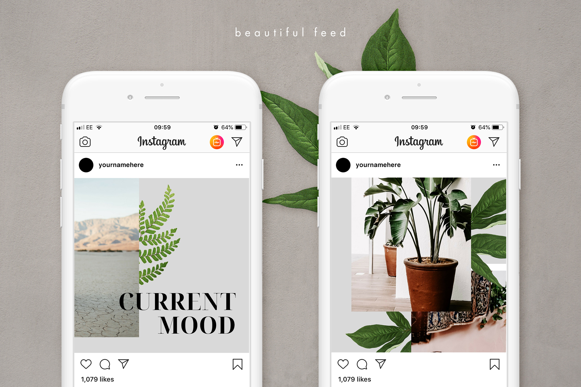 Instagram puzzle template for Canva example image 5