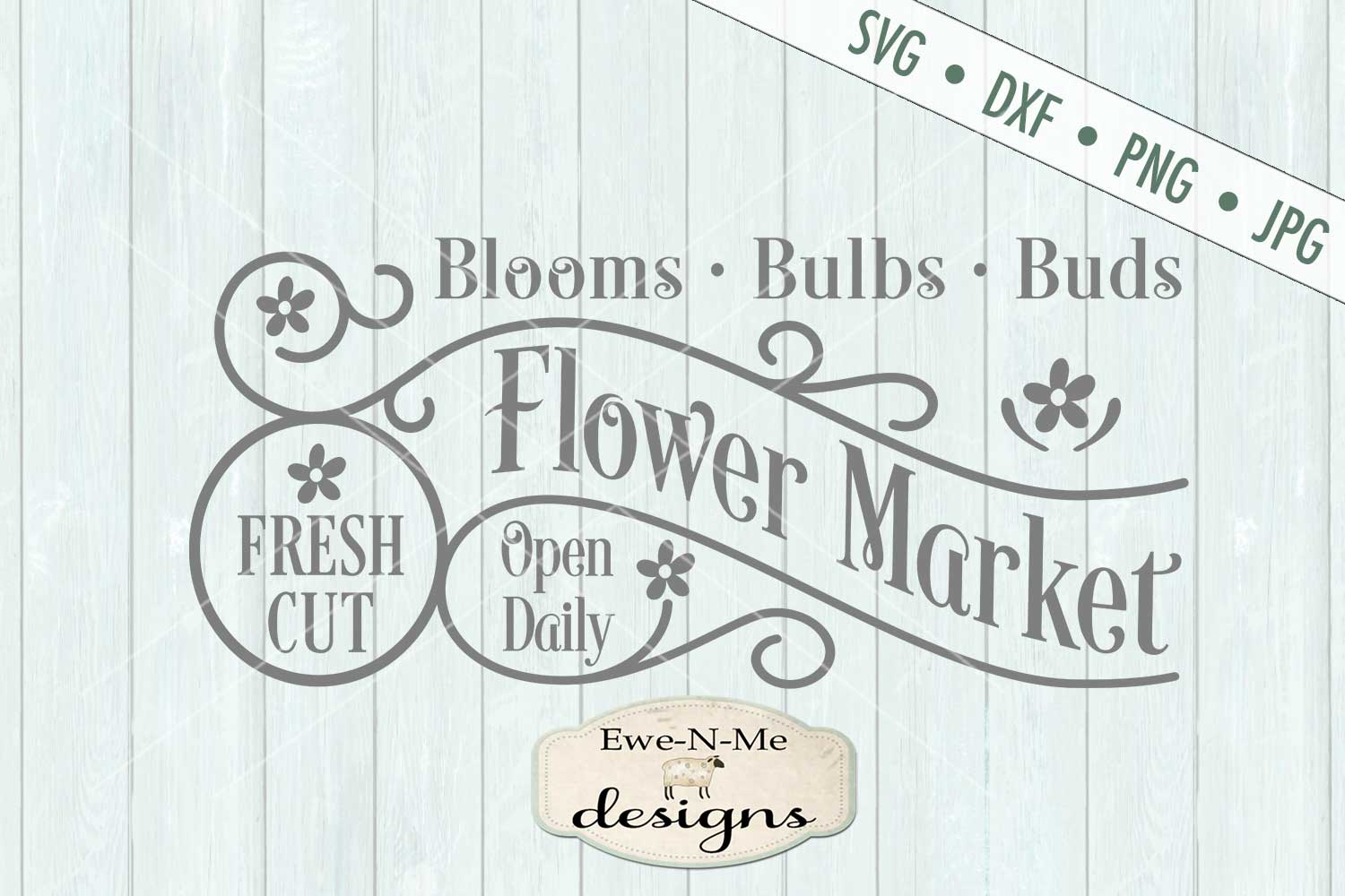 Fresh Cut Flower Market Spring SVG DXF Cut File example image 2
