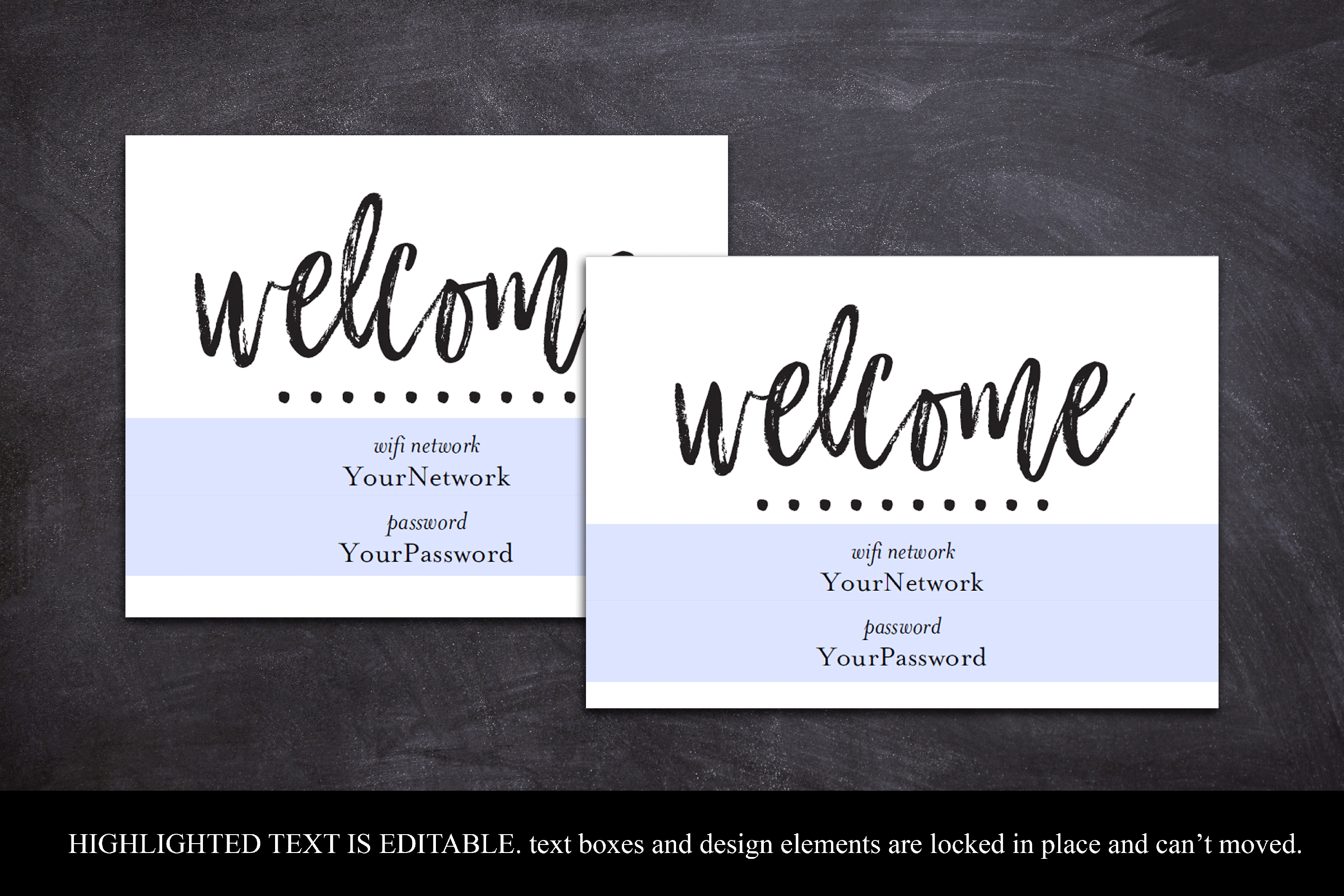 wifi password printable sign guest room sign welcome example image 4
