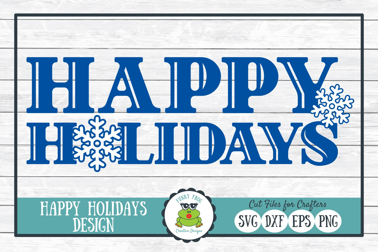 Happy Holidays, Christmas Winter Holiday SVG Cut File example image 1