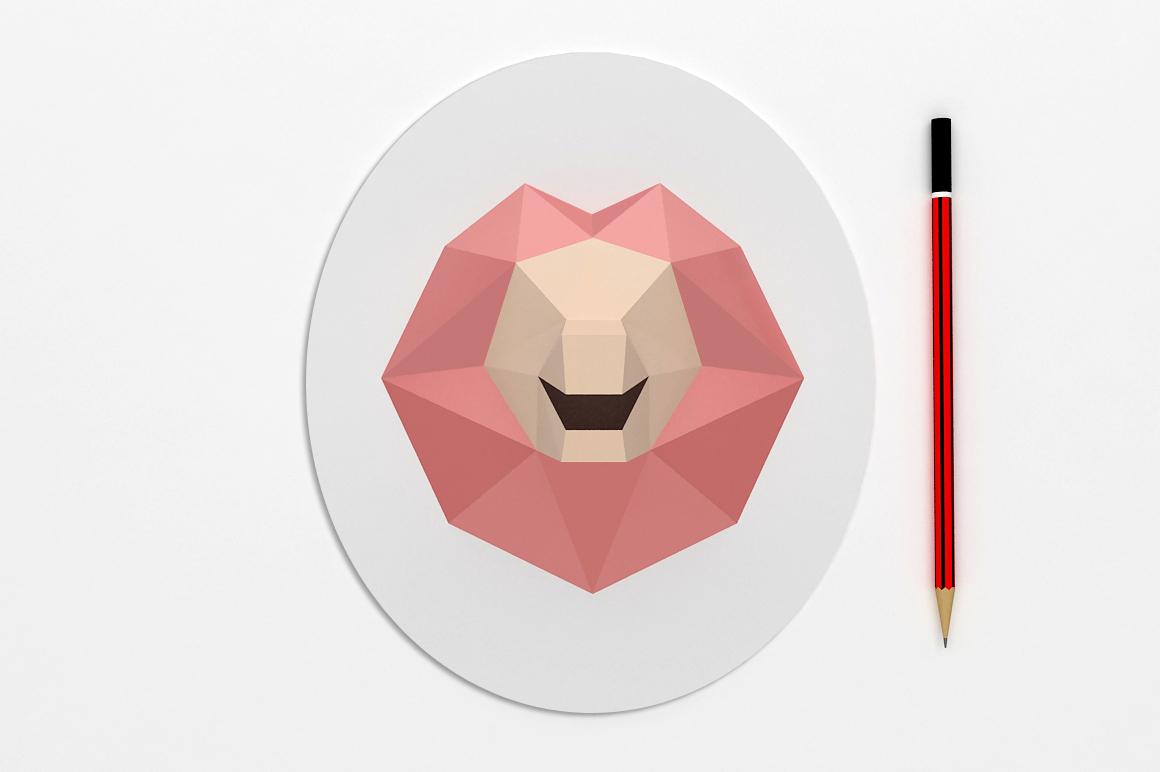 DIY Lion head trophy - 3d papercraft example image 3