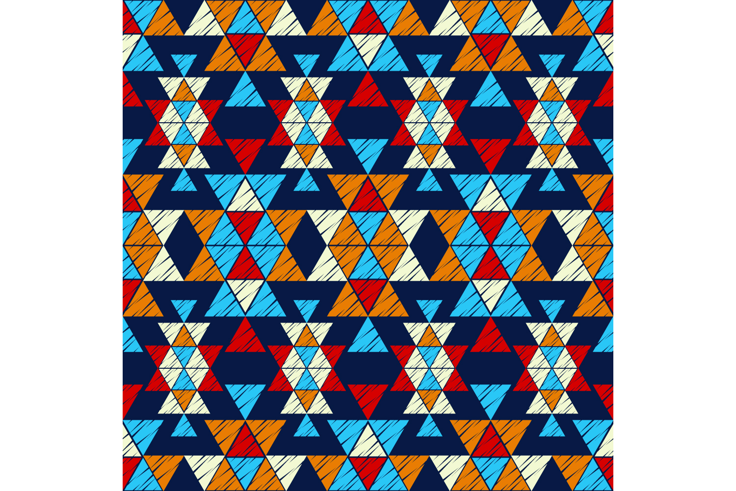 Ethnic boho ornament. Set of 10 seamless patterns. example image 3