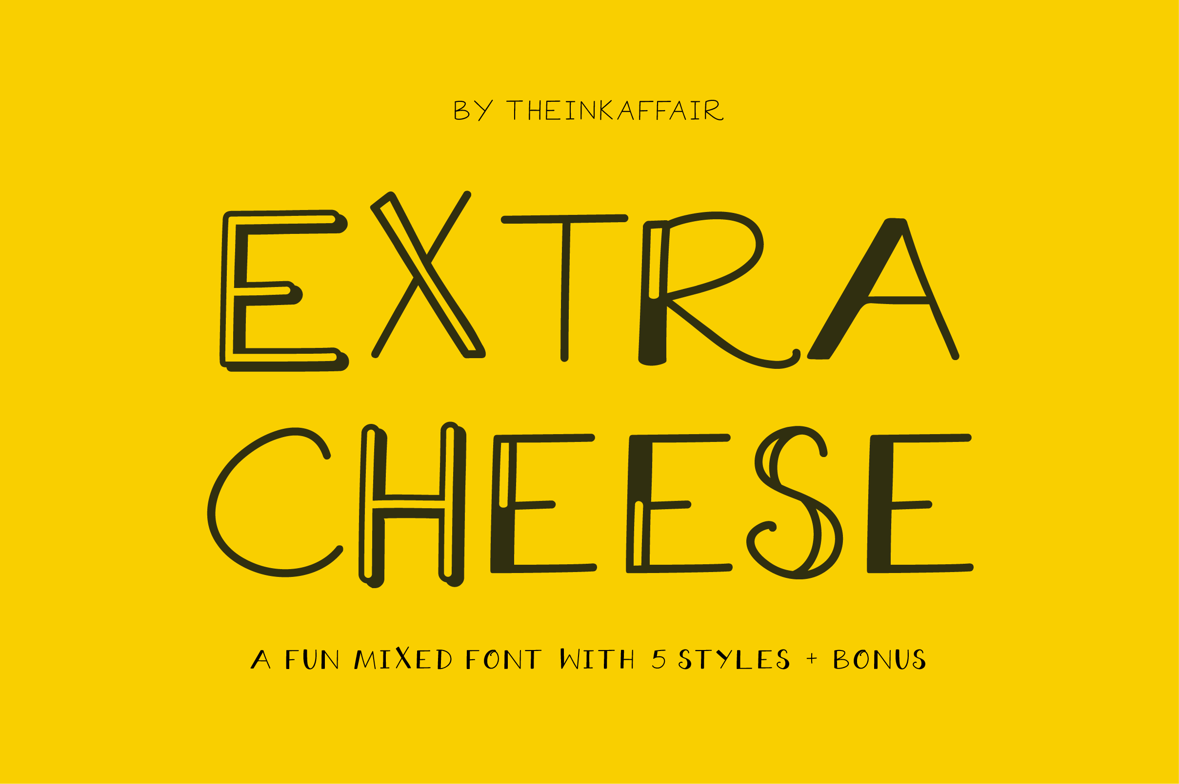 Sale! Extra Cheese Font Set example image 1