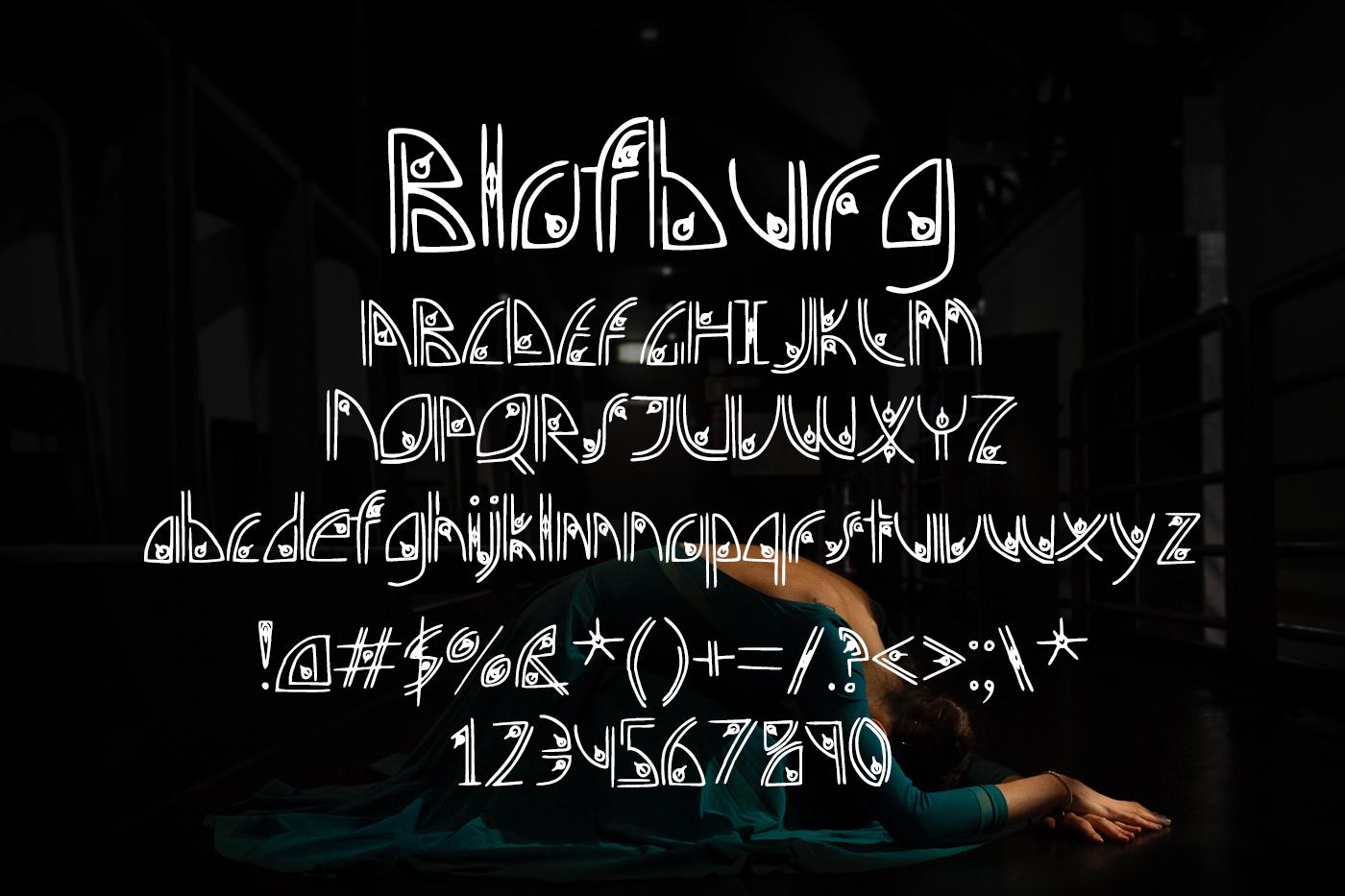 Blofburg Font example image 2