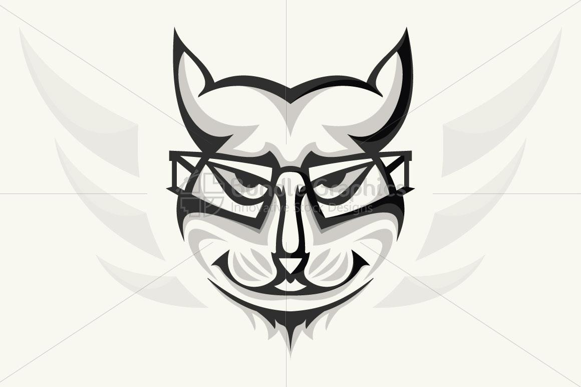 Geek Cat - Creative Illustration of Animal  example image 1