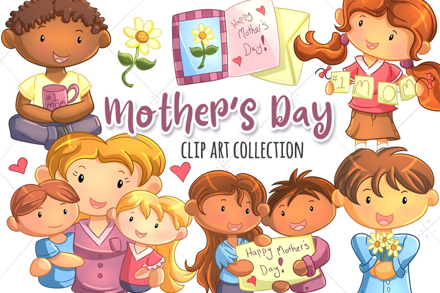 Mother's Day Clip Art Collection example image 1