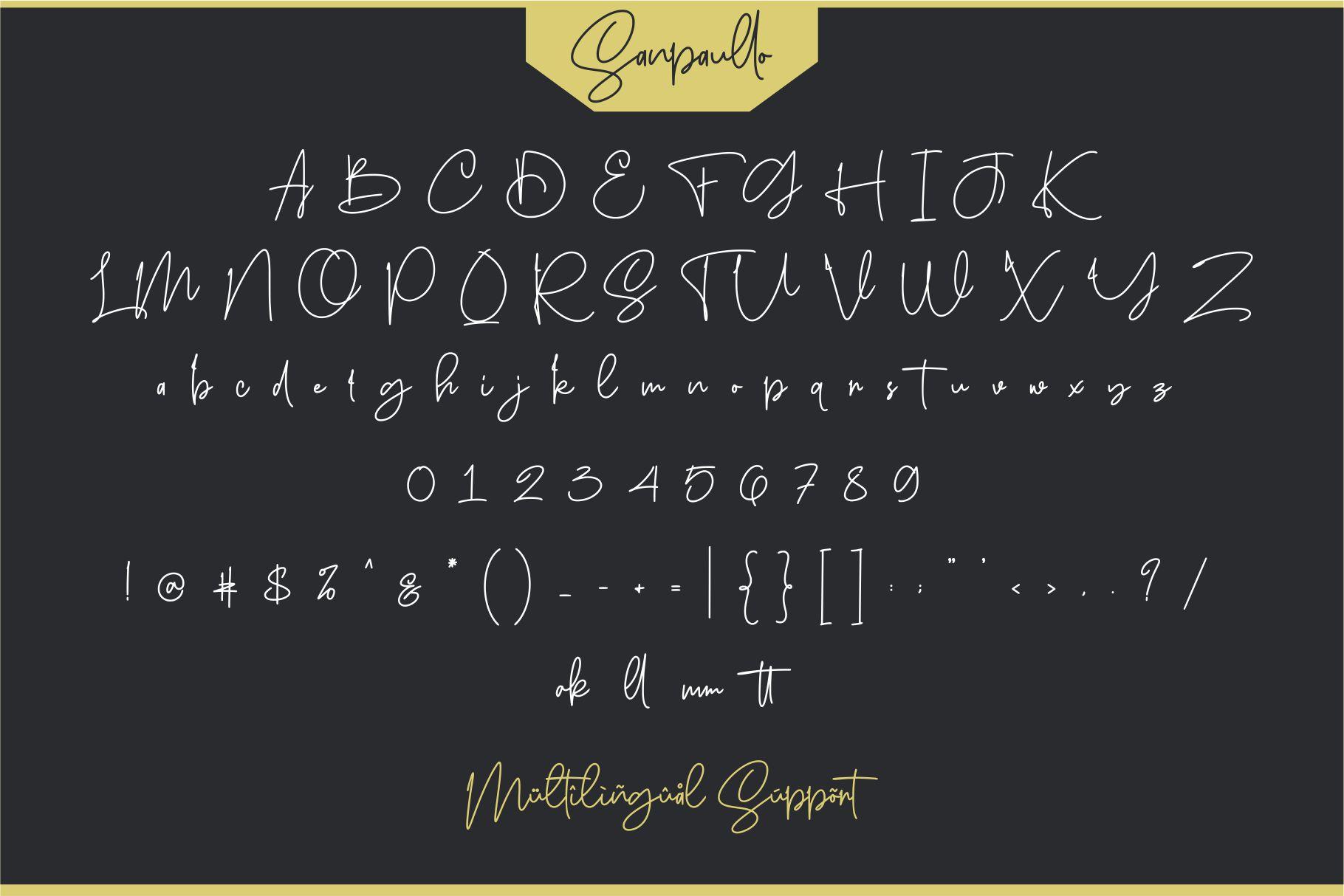 Sanpaullo - Signature Font example image 4