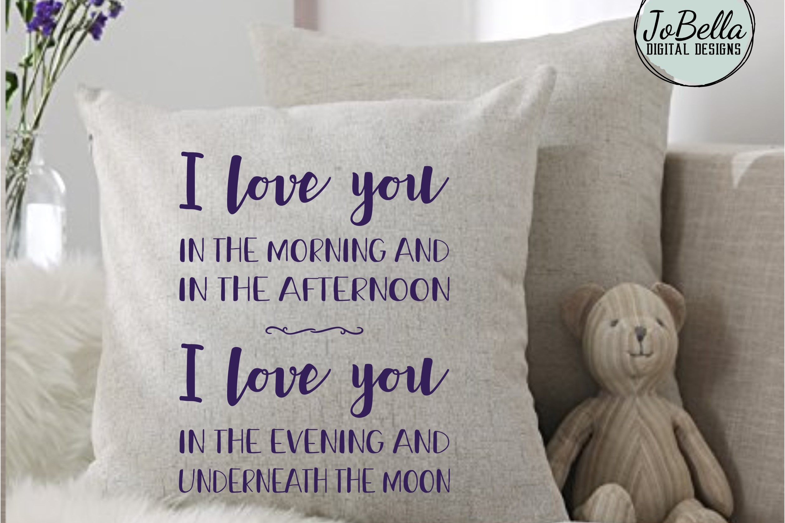 Kids Room SVG & Printable - I Love You In The Morning And... example image 2