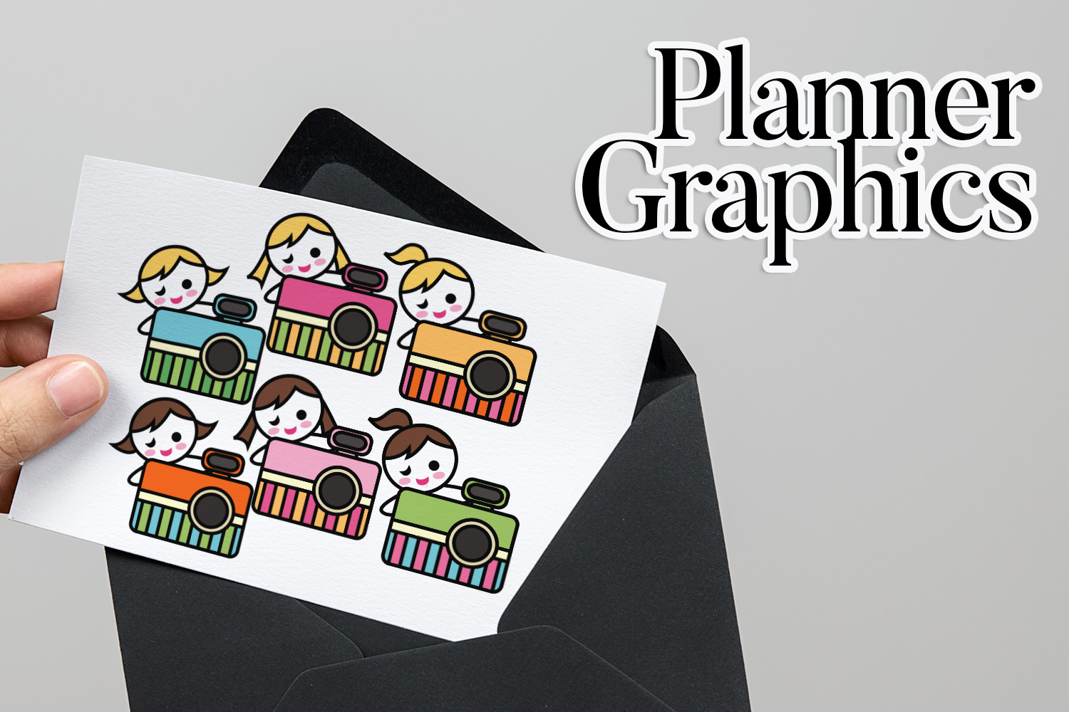 Hobby illustrations bundle - planner sticker graphics example image 17