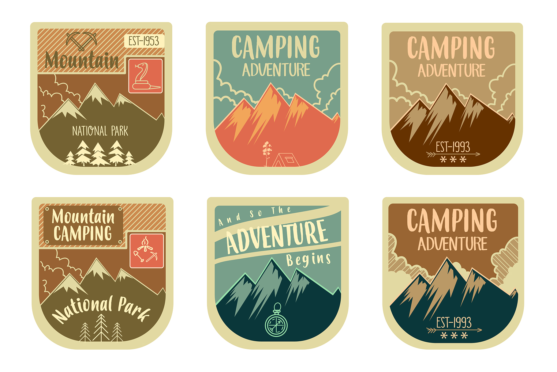 Adventure badges collection example image 1