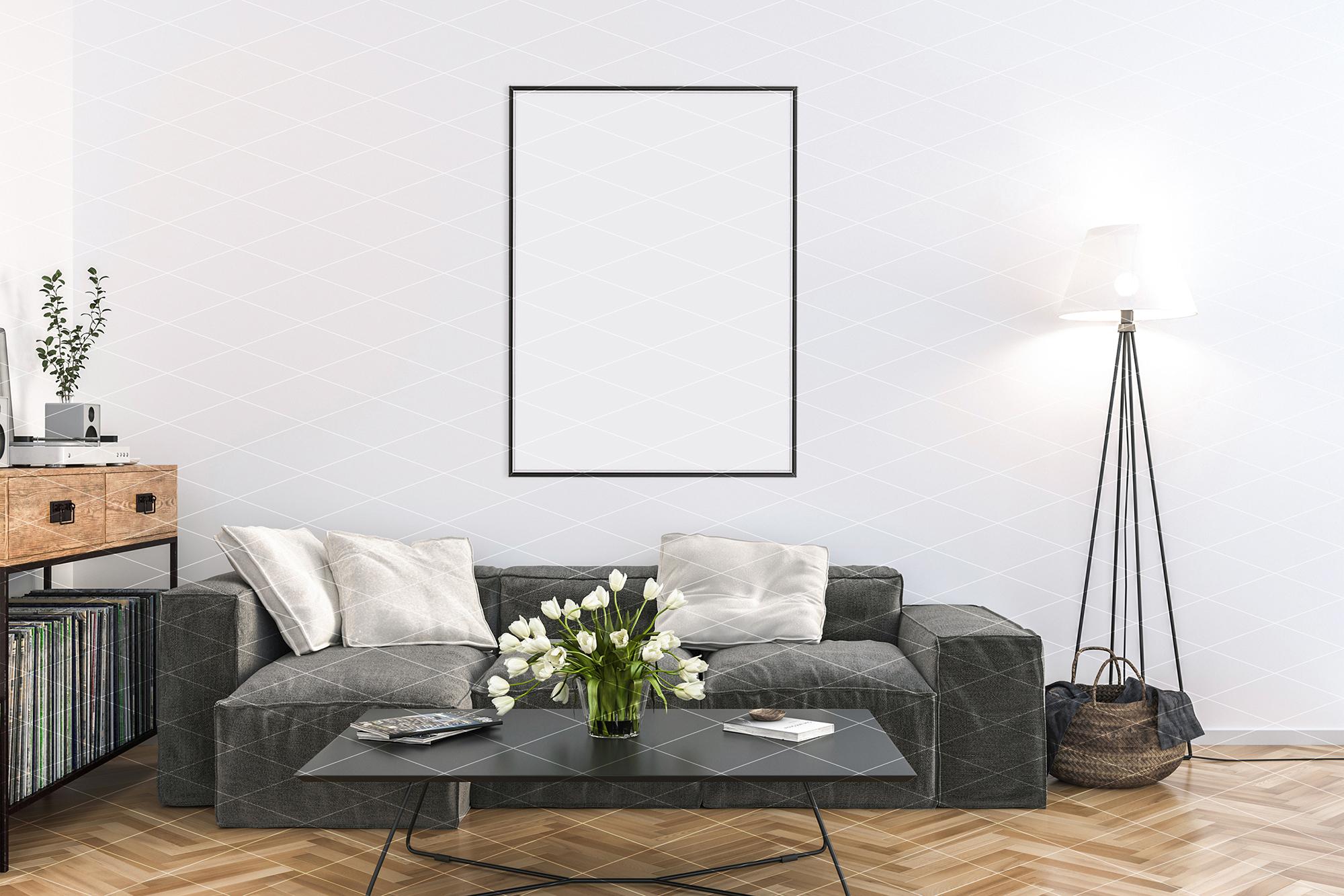 Interior mockup - artwork background - kitchen example image 4