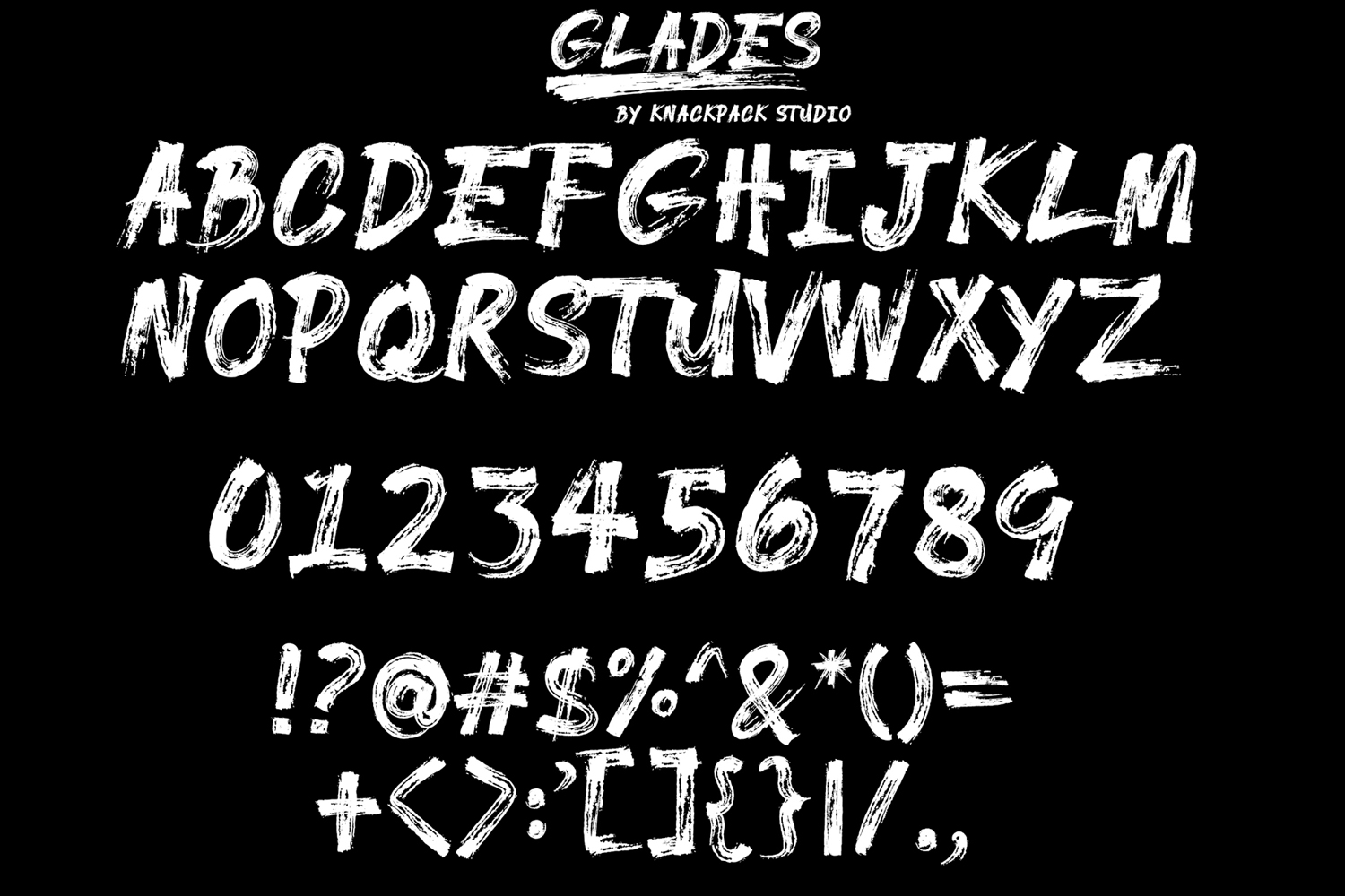 GLADES Brush Typeface example image 2