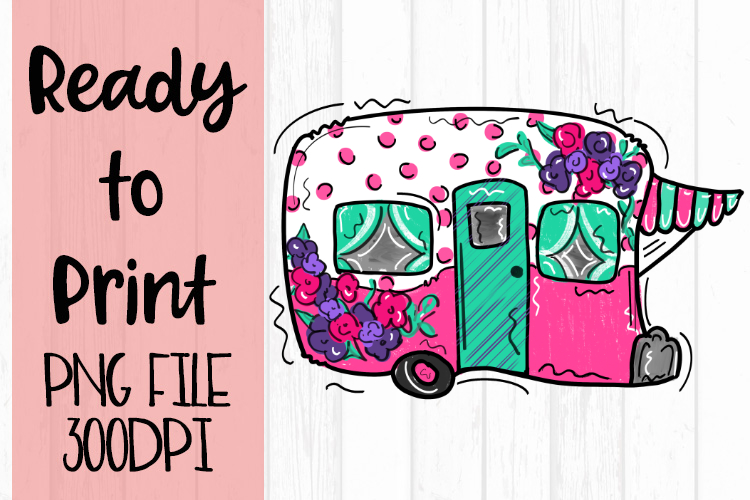 Bright Camper Ready to Print example image 1