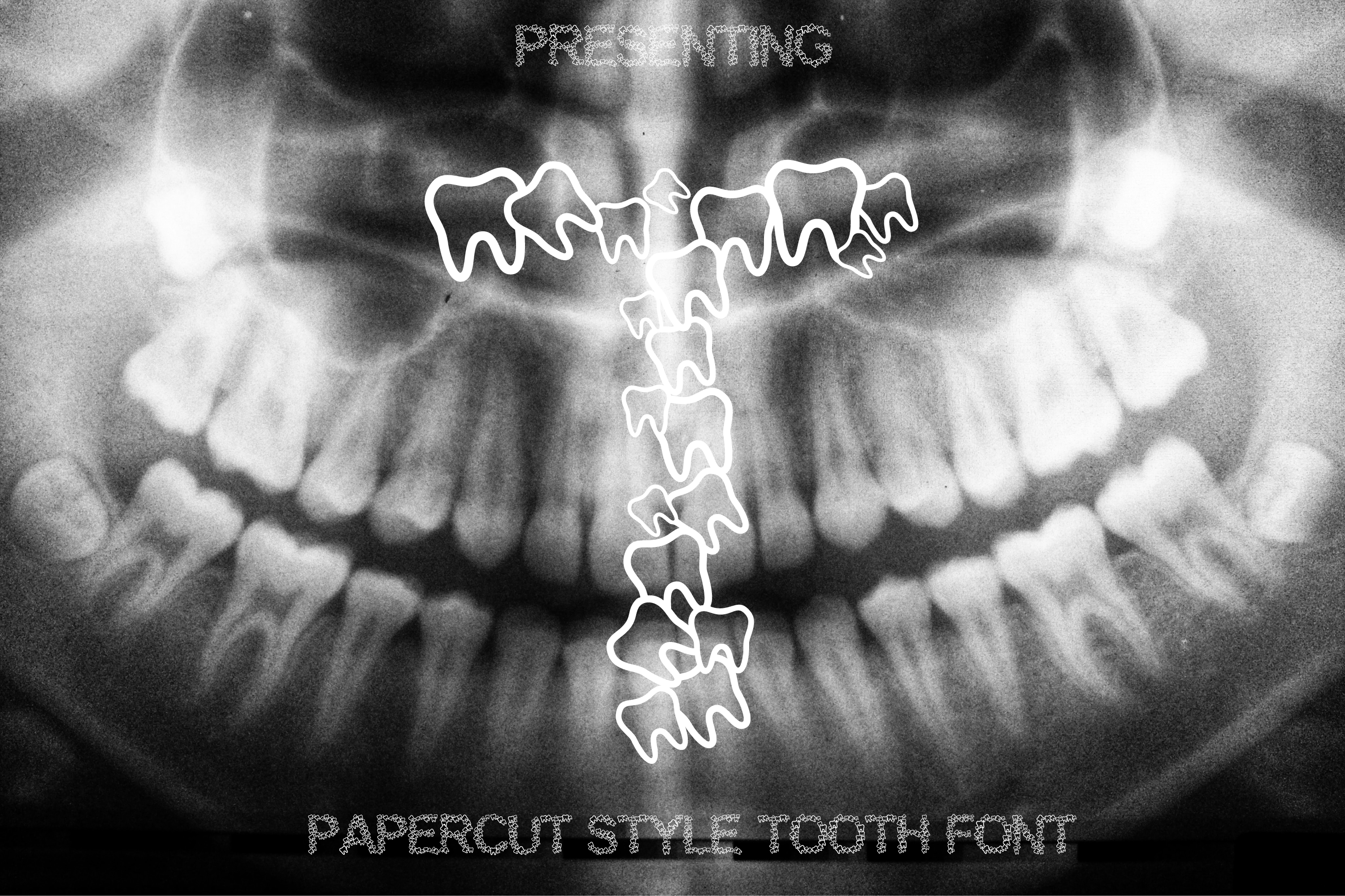 Teeth Font - Alphabets Tooth Font for Crafters example image 1
