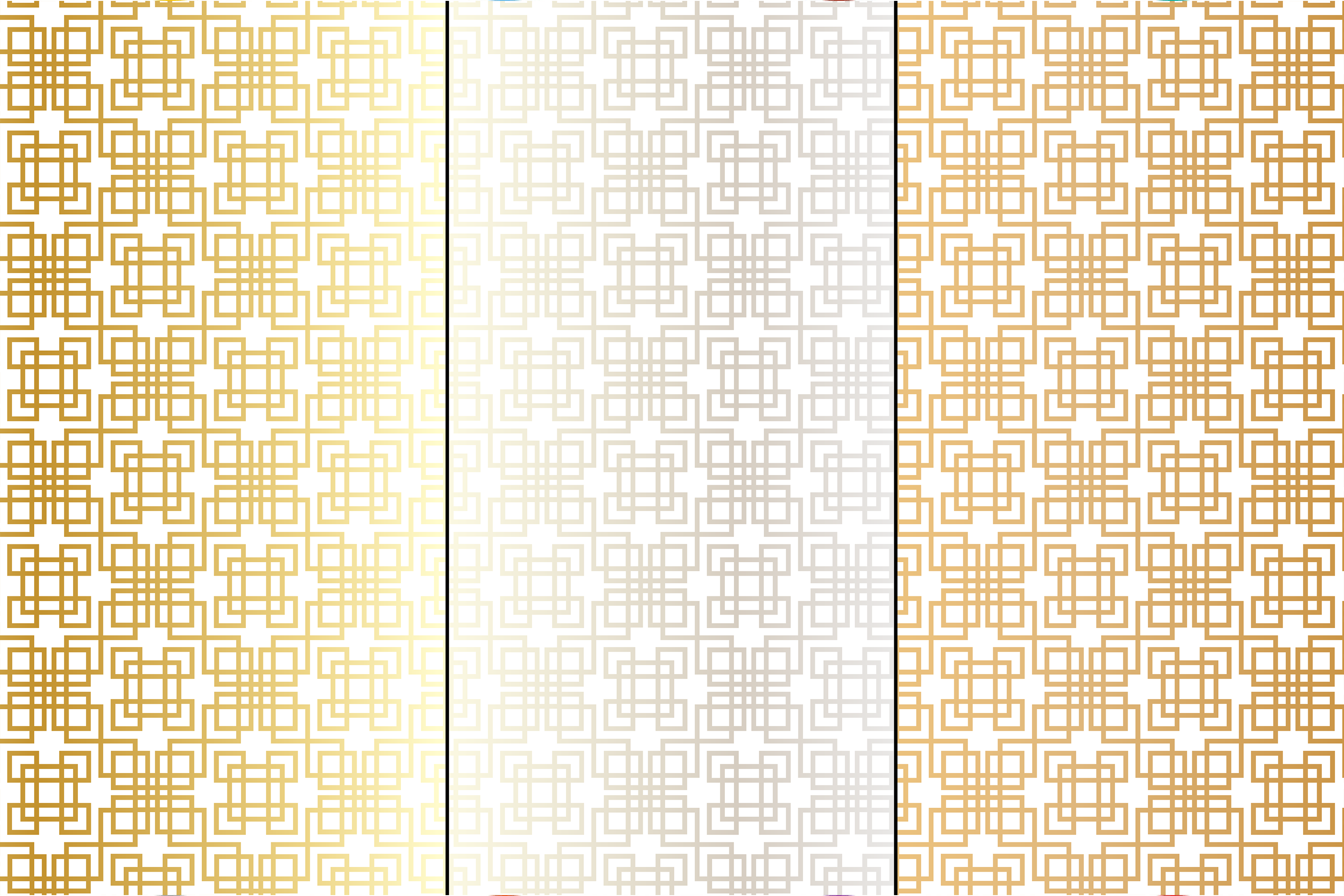 Metallic Fretwork Patterns example image 2