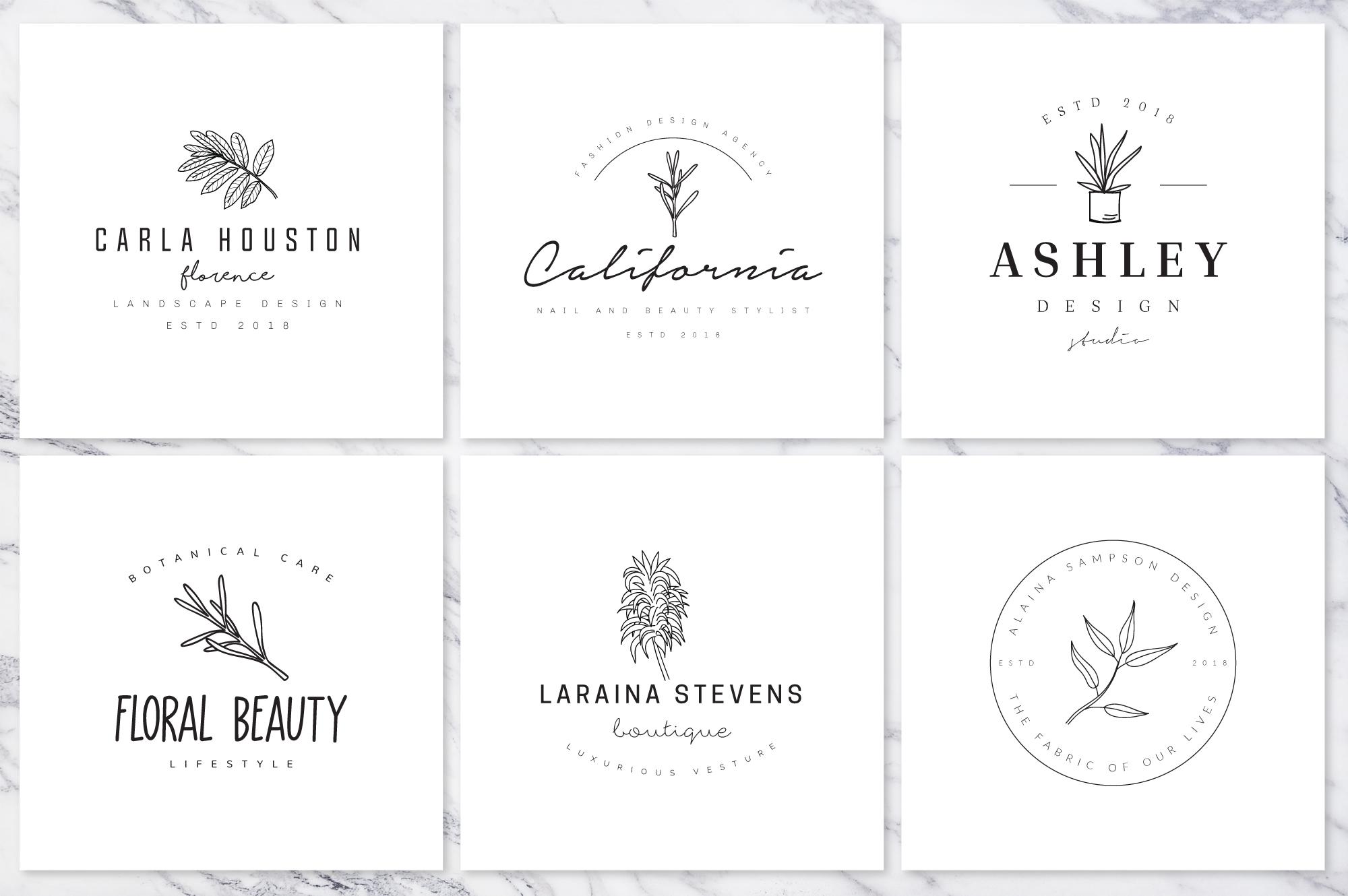 Feminine Branding Premade Logos V01 example image 5