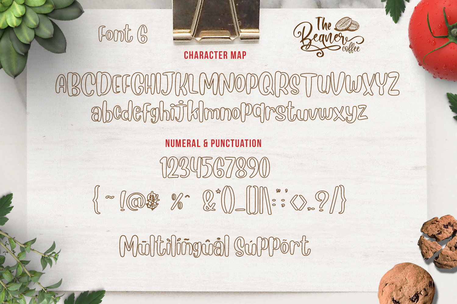 The Beaner - 5 Font & 41 Clipart example image 20